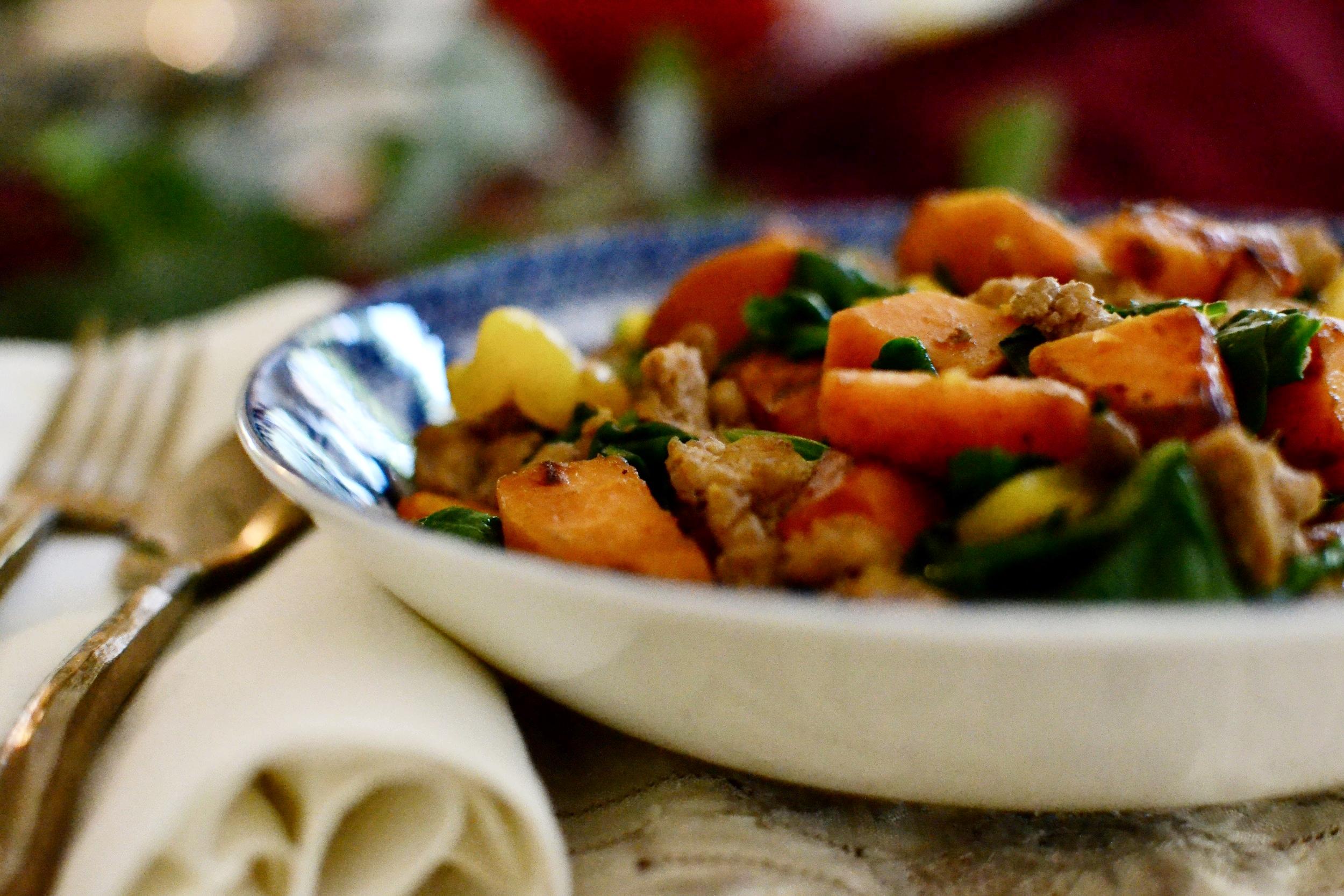 sweet potato turkey bowl 2