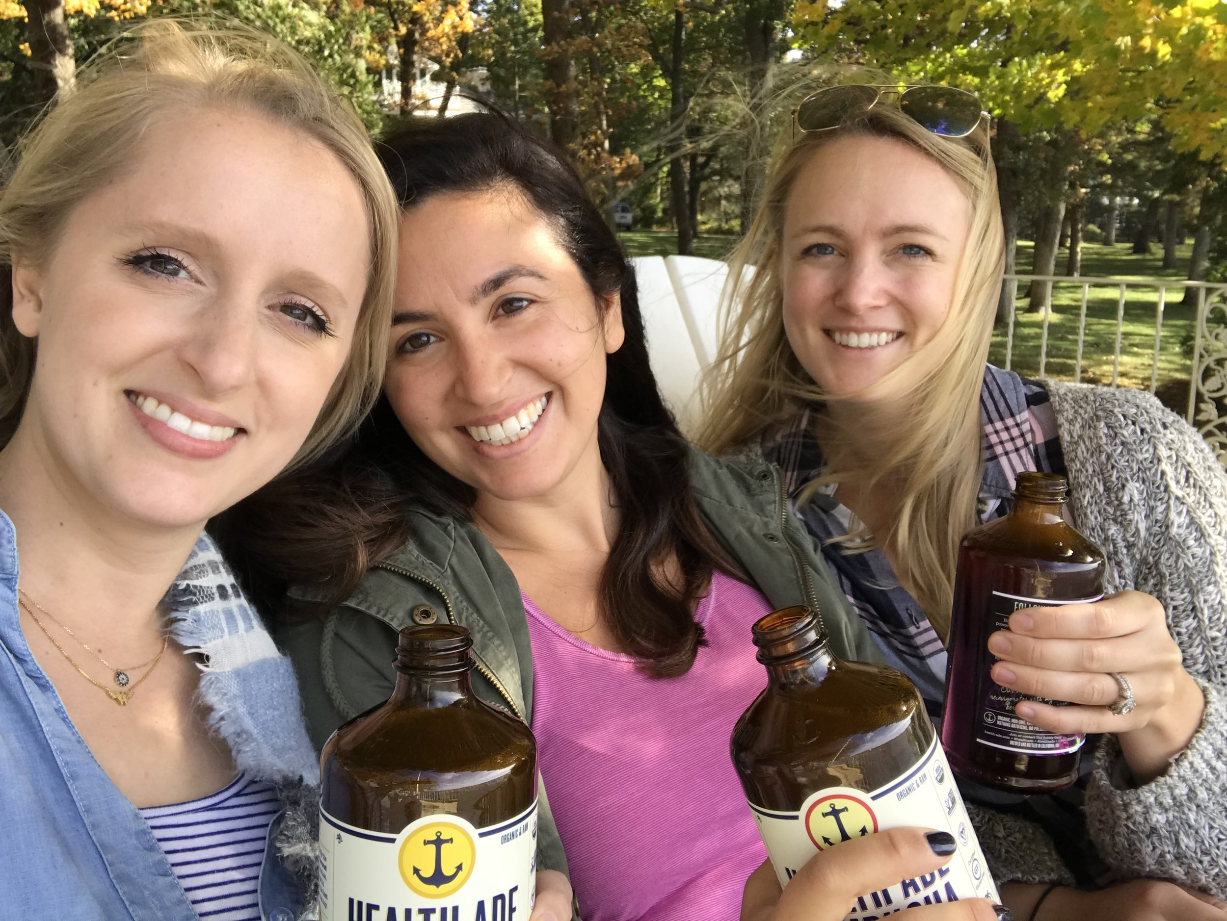 Drankin 'booch with 2 of the our #shedteambabes (Emily on left, Colleen on right!)