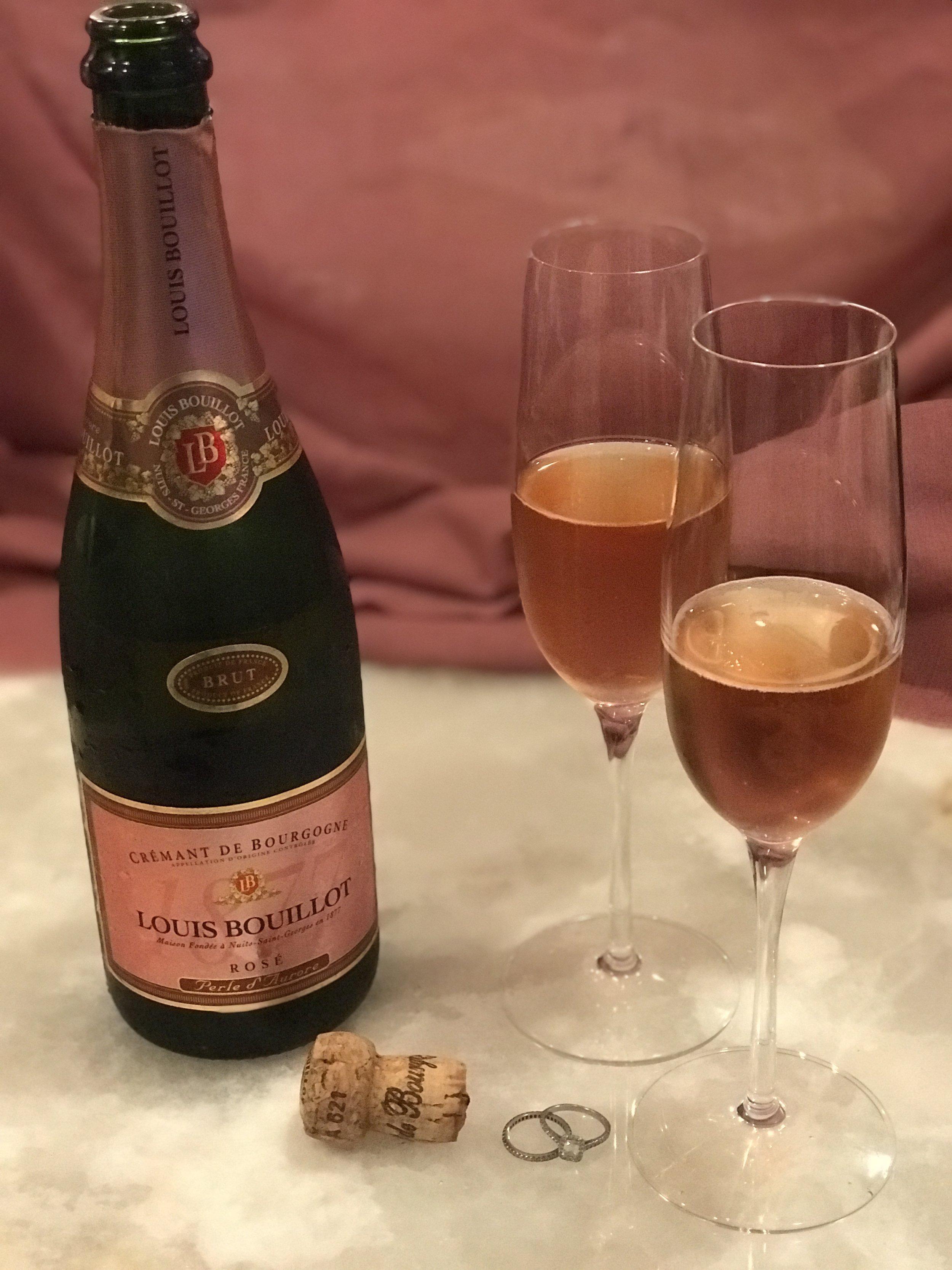 We drank champagne...