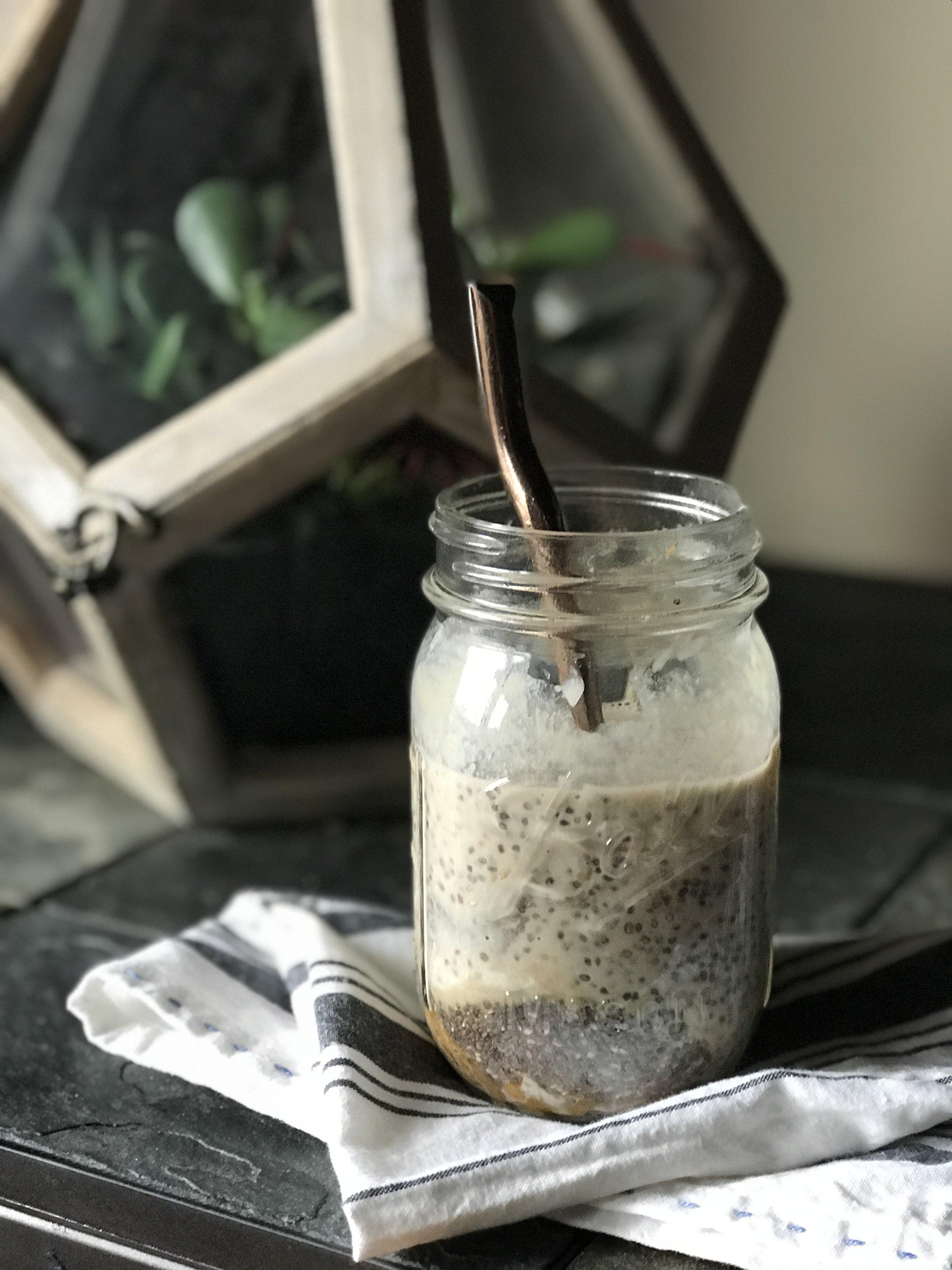 Peach vanilla chia seed pudding 2