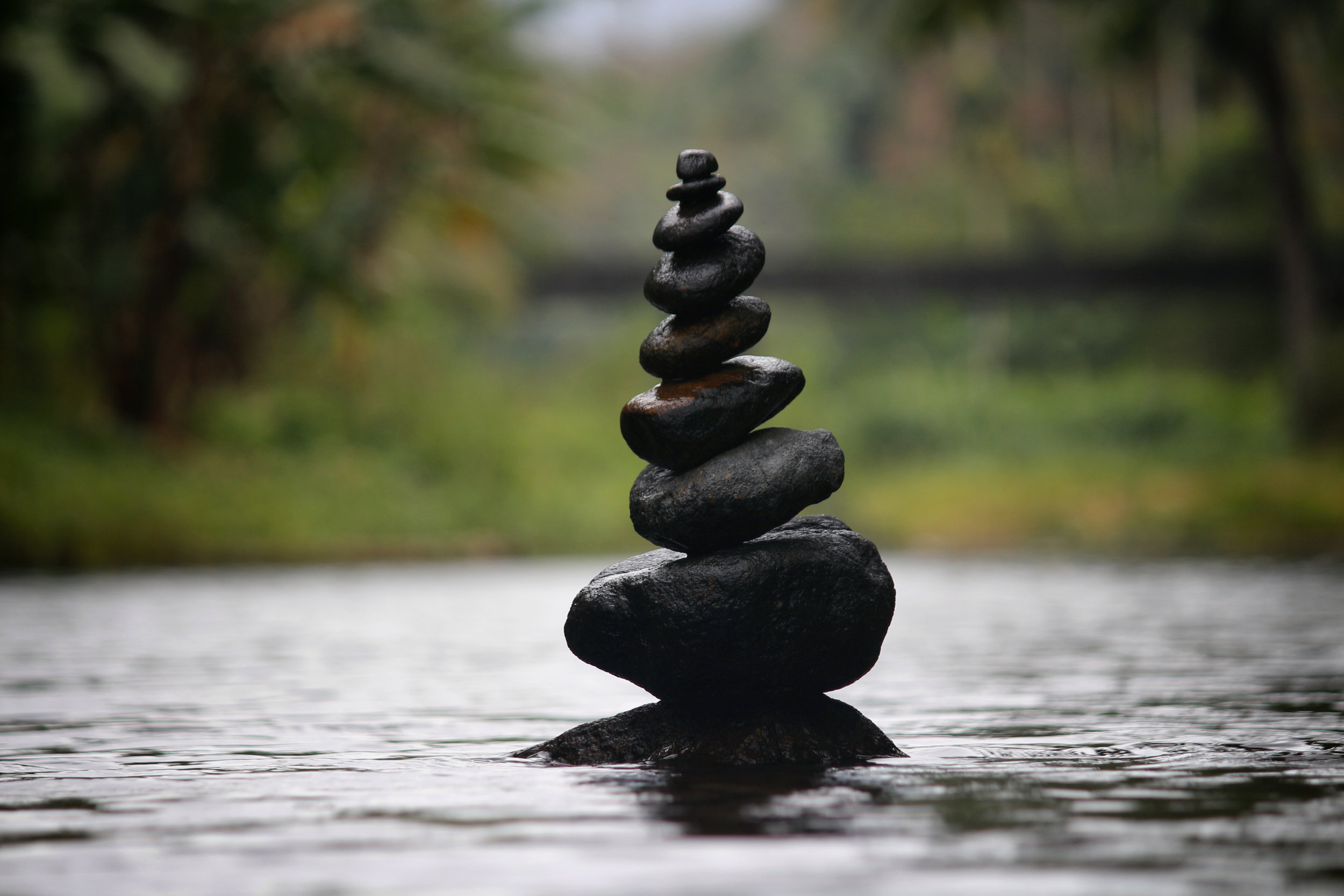 Balanced rocks in water - clearly you have reached the pinnacle of enlightenment if you sit near these bad boys.