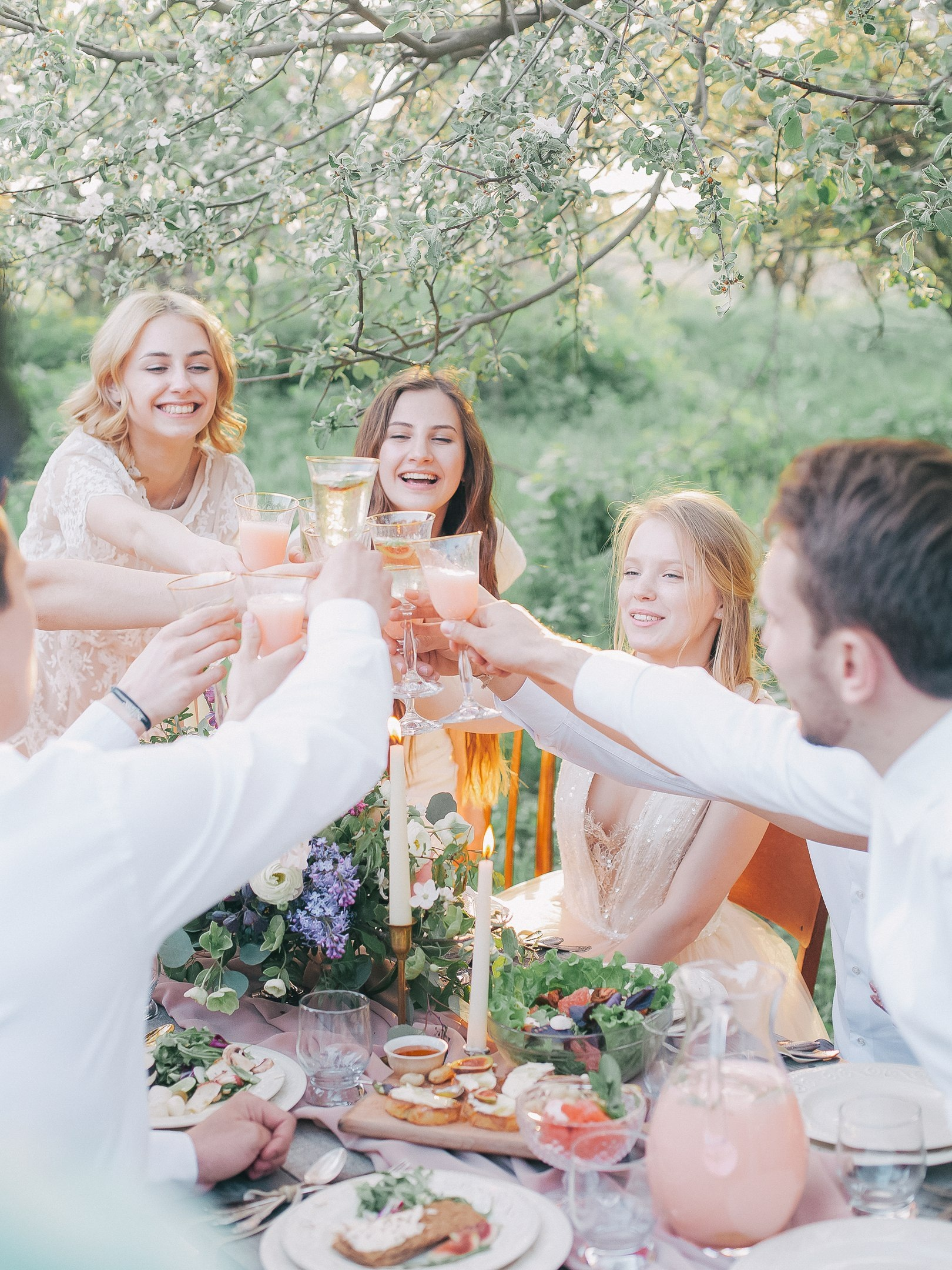 bridesmaid cheers wedding events healthy