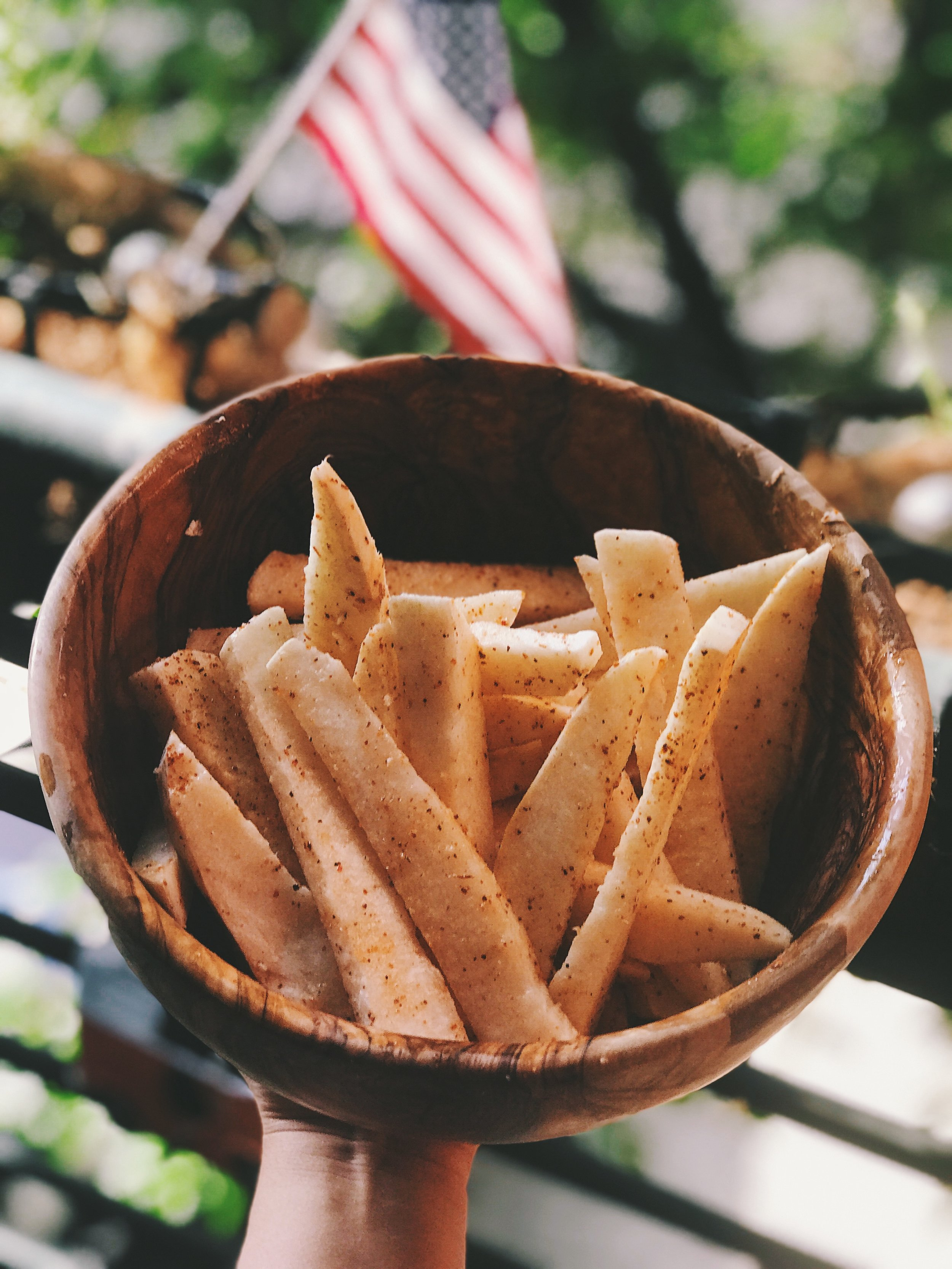 jicama fries chips mexican style tajin gut health prebiotics