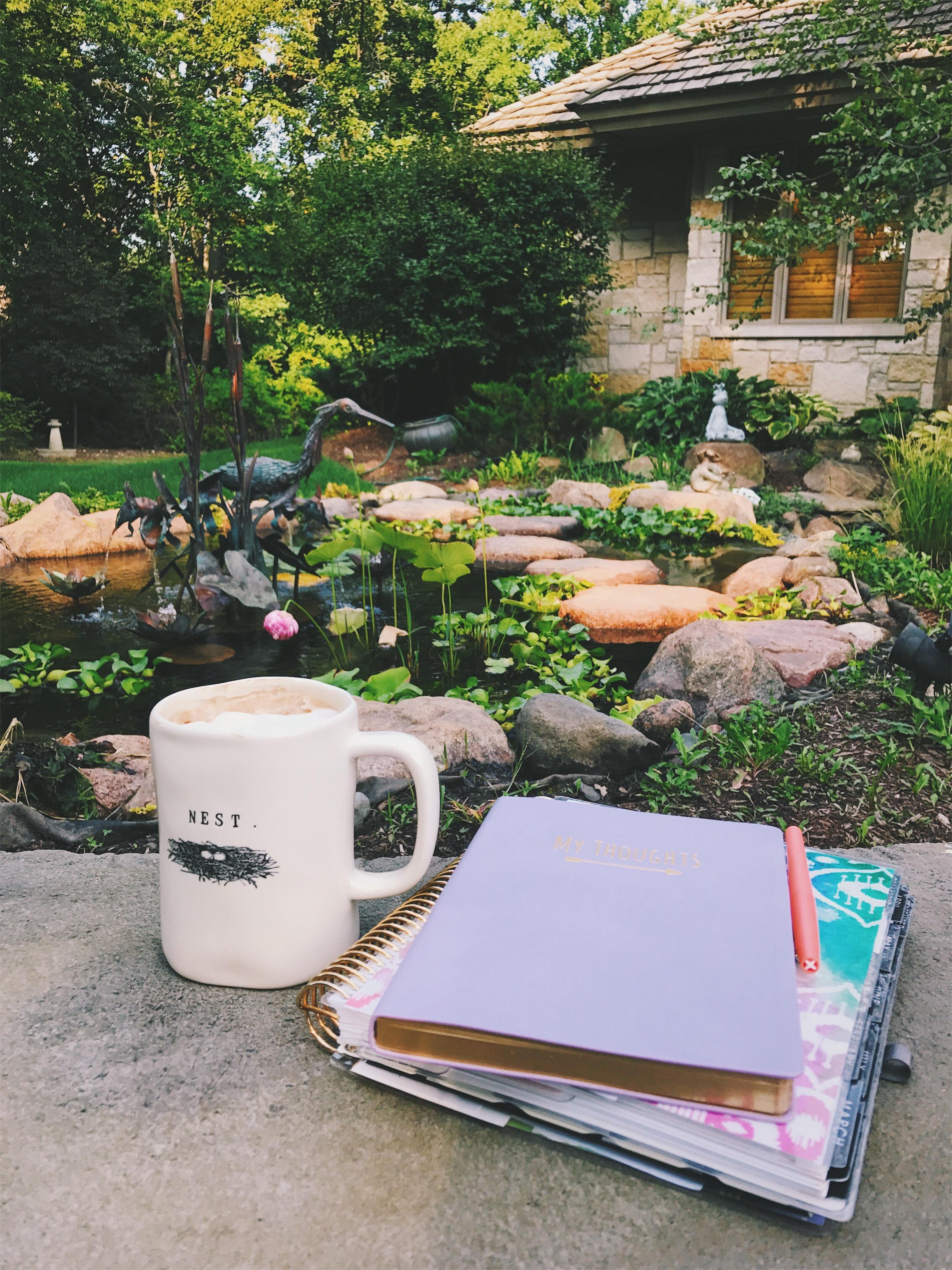morning rituals gratitude journal erin condren planner superfood latte