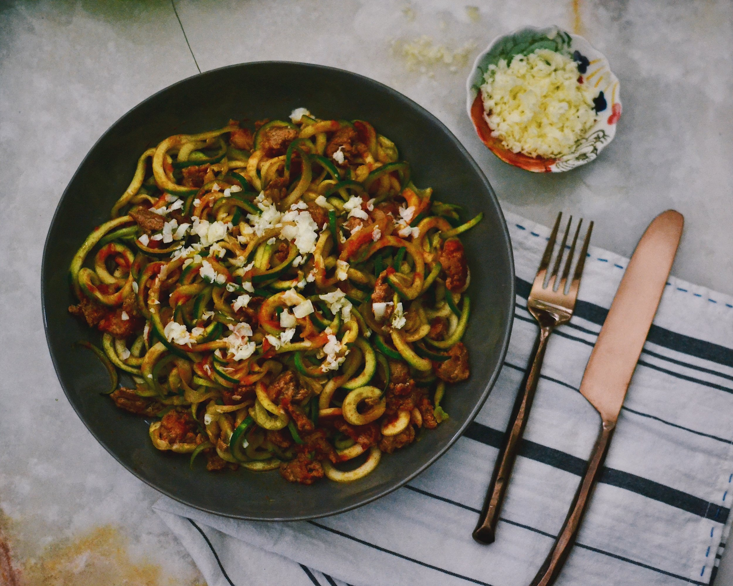 spicy taco zoodles healthy recipes shed for the wed