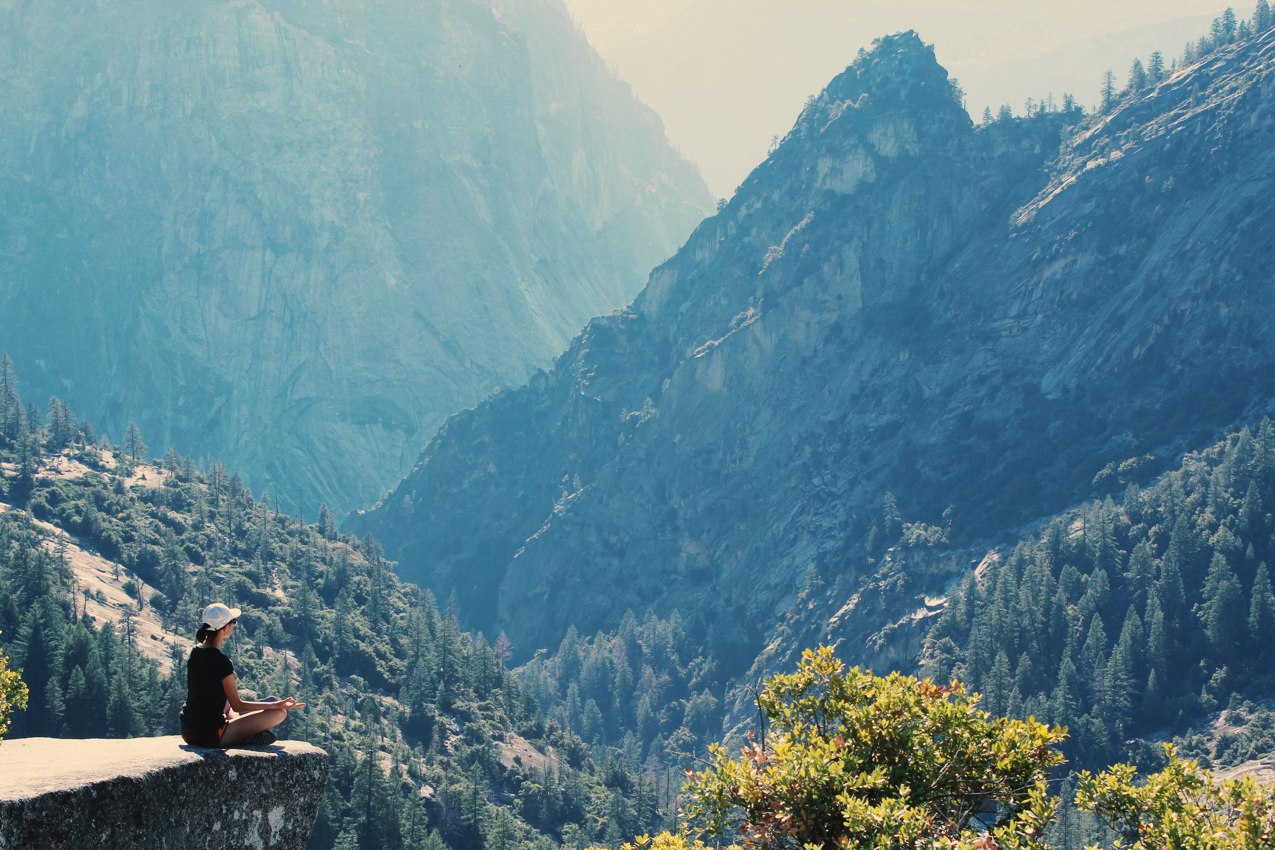 You don't even need to be on the edge of a cliff looking at mountains to meditate! You can do it from home!