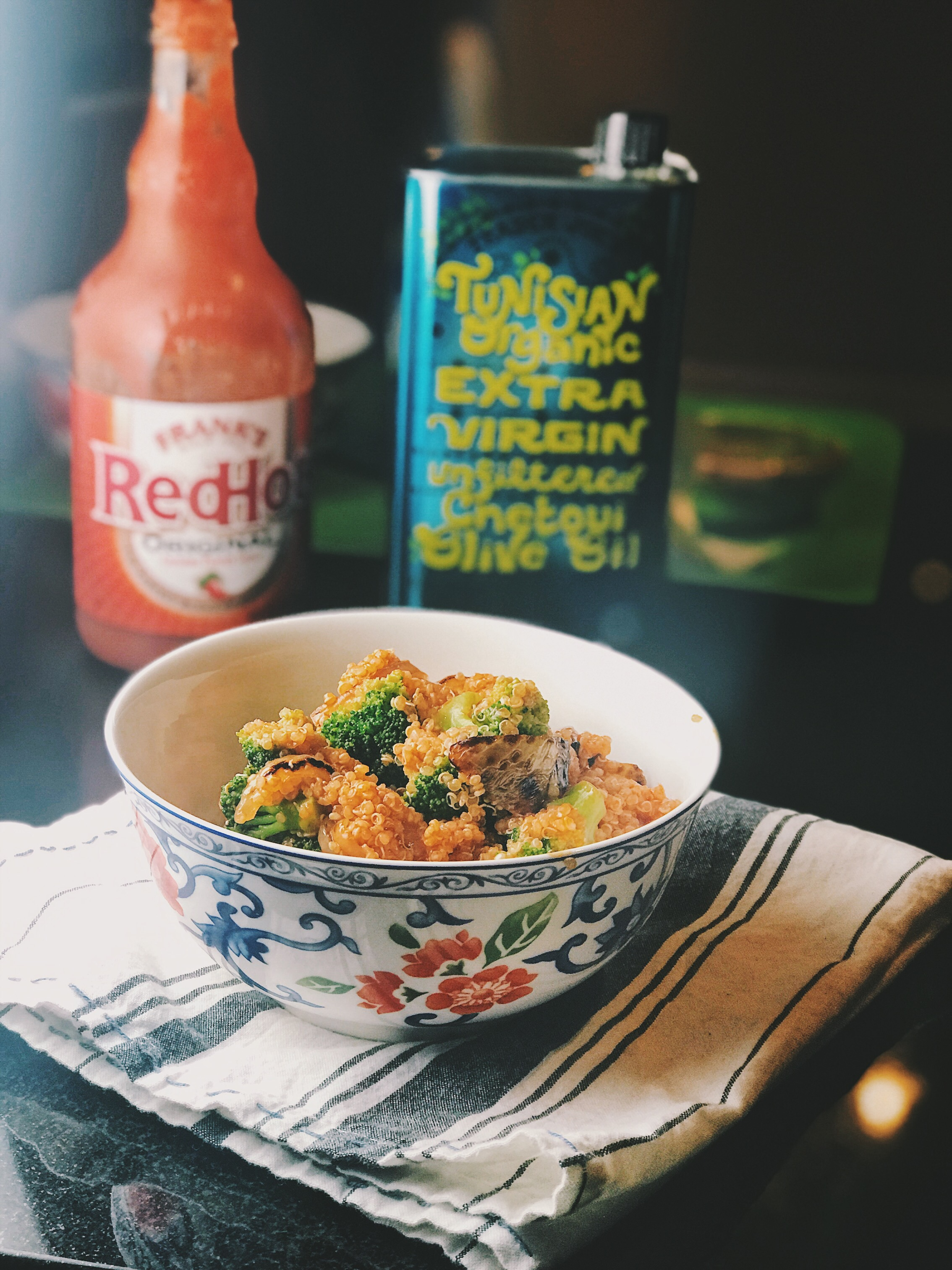 franks hot sauce quinoa healthy recipe super bowl