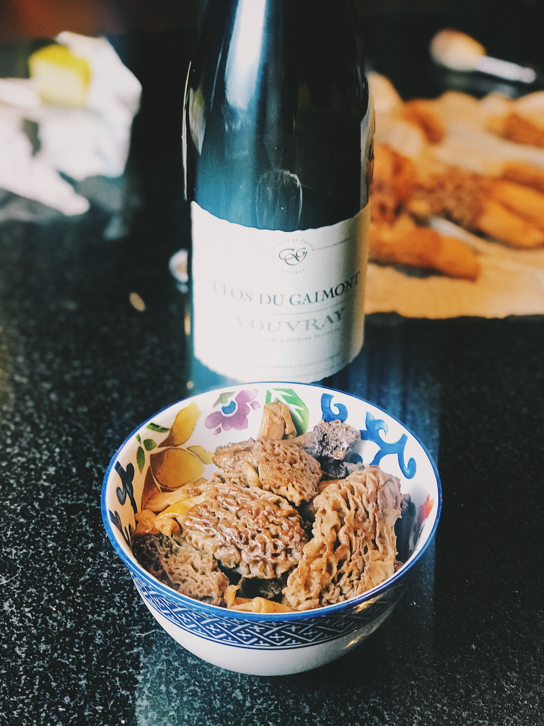 morels with butter and white wine
