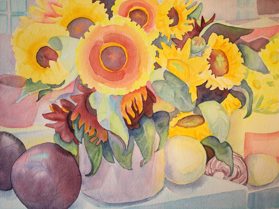 """""""Sunflowers, Aix Market Day"""", 12"""" X 16"""" (available)"""