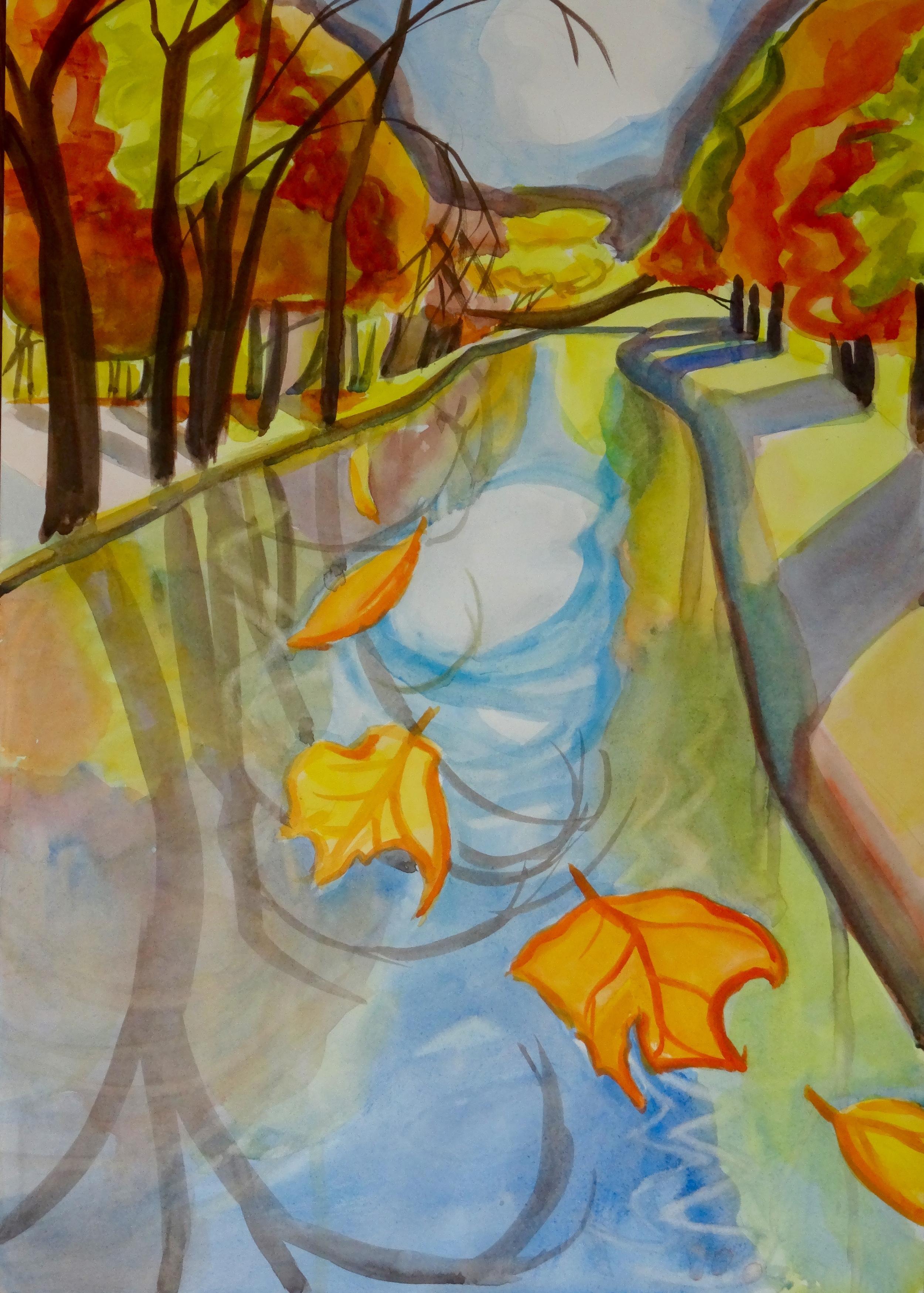 "Portal to November II, 20"" x 14"", watercolor"