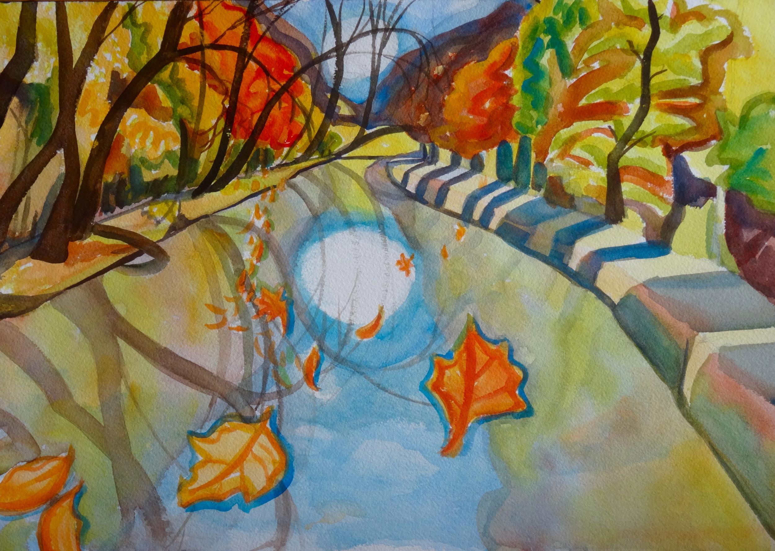 "Portal to November I, 14"" x 20"", watercolor"