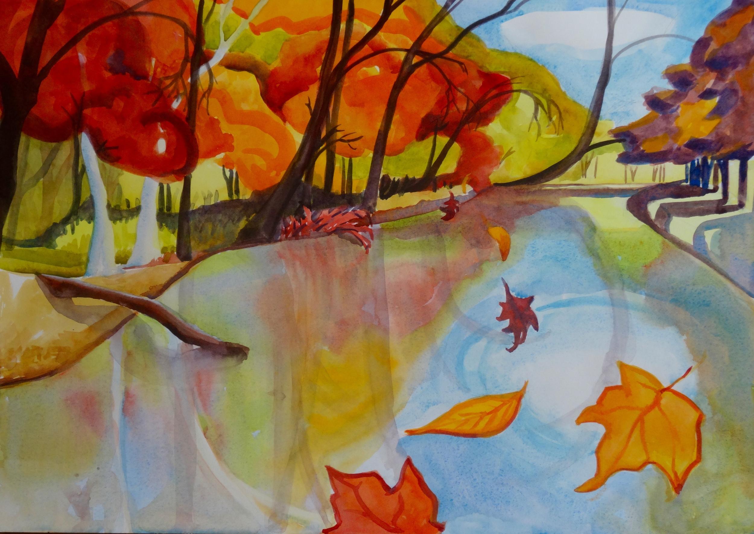 "Portal to November III, 14"" x 20"", watercolor"