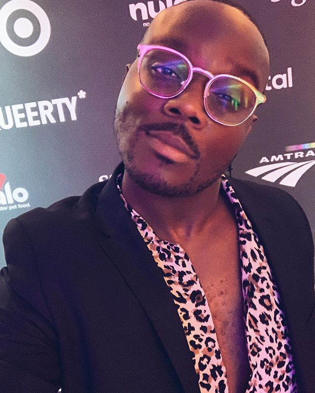 Selfie from last night's @queerty #Pride50 event where they honored 50 people living the legacy of Stonewall, 50 years later. In addition to social, I interviewed celebrities and influencers on the red carpet including @johncameronmitchell . ''Twas a great eve.