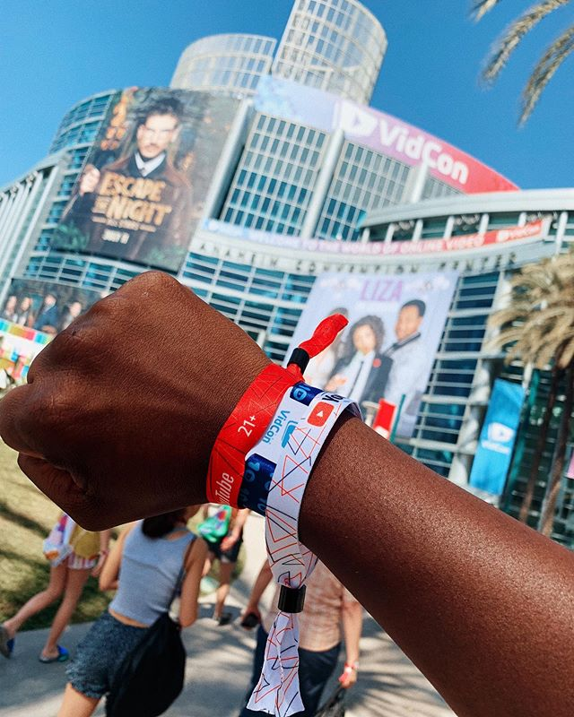 Seriously decked out for this event. #VidCon2019