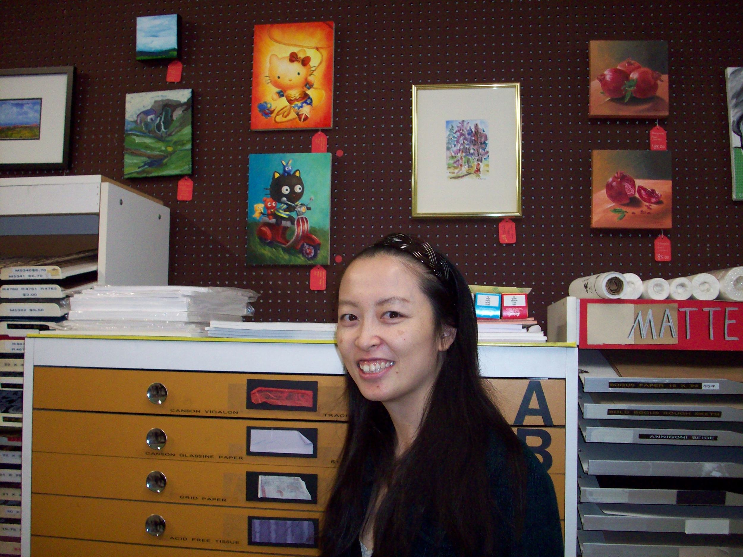 A couple of years ago, I submitted my Hello Kitty Wonderwoman and CHococoat painting at the Carter Sexton Holiday Show. These pieces SOLD BEFORE THE SHOW BEGAN. =) Music to my ears! Hopefully I will have the same luck this year!