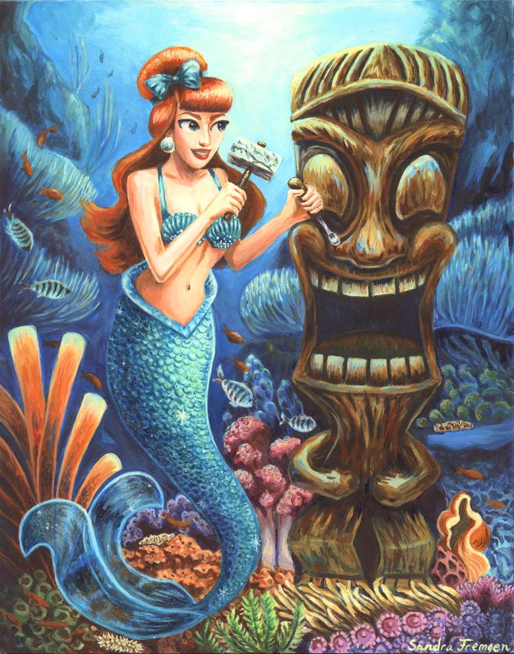 Mermaid-and-the-Tiki-bySandraFremgen.jpg