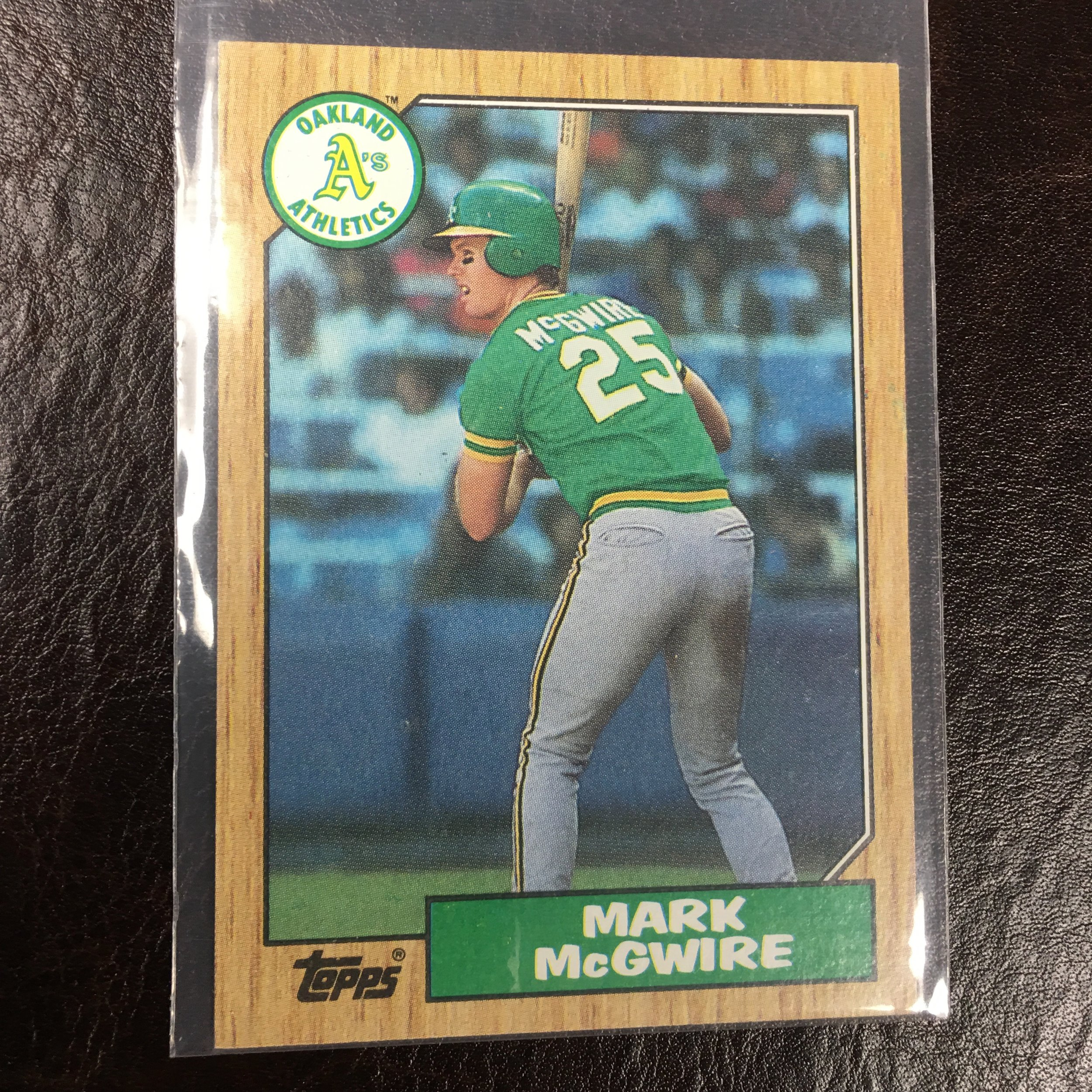 Card Of The Week 1987 Topps 366 Mark Mcgwire Jwritebolnet