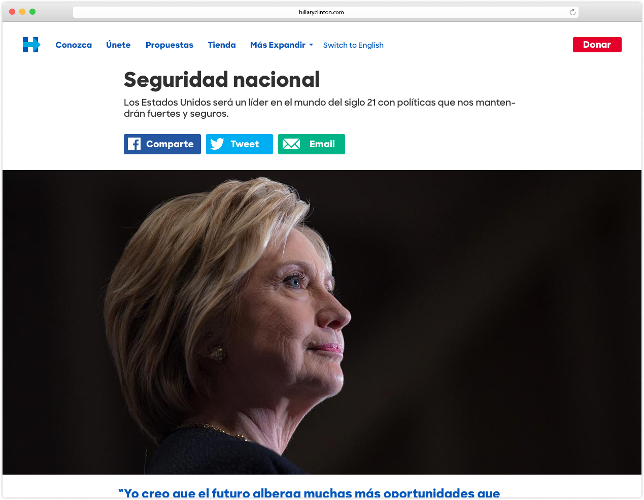 Policy Page (in Spanish)