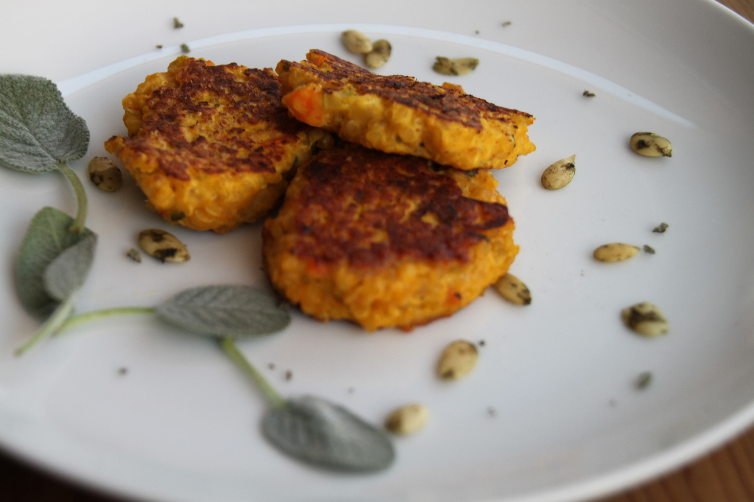 Warm Pumpkin Quinoa Cakes