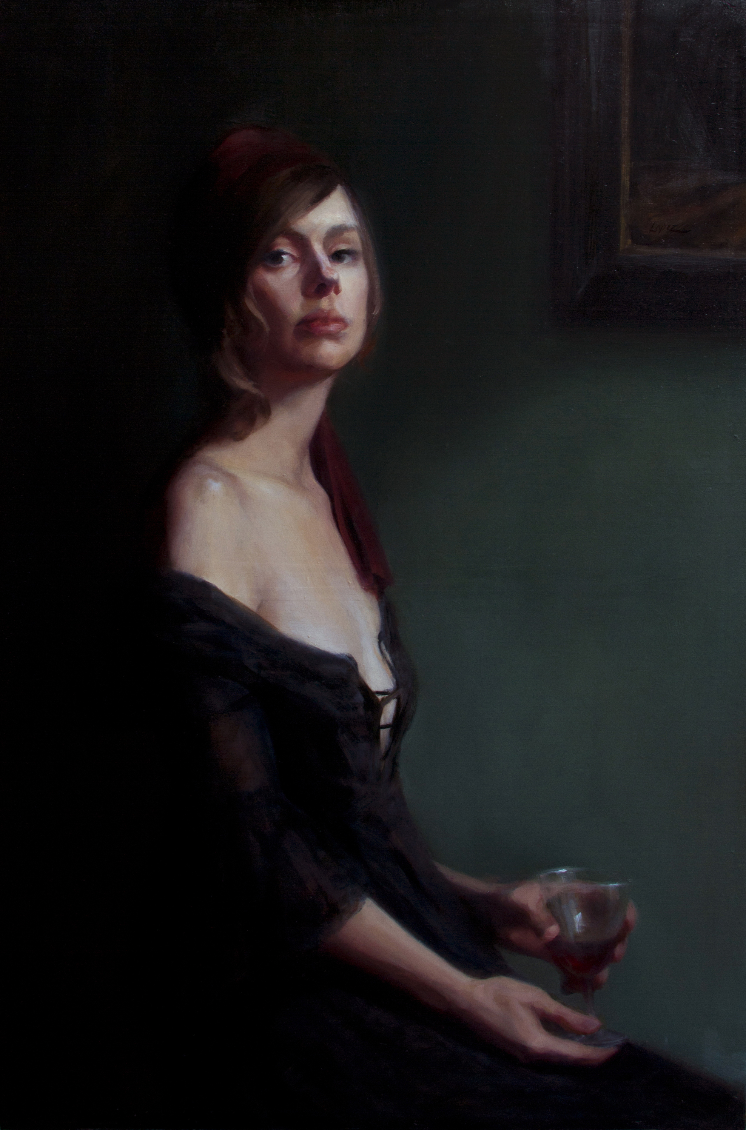 """Nightcap"", Oil, 36 x 24 In."