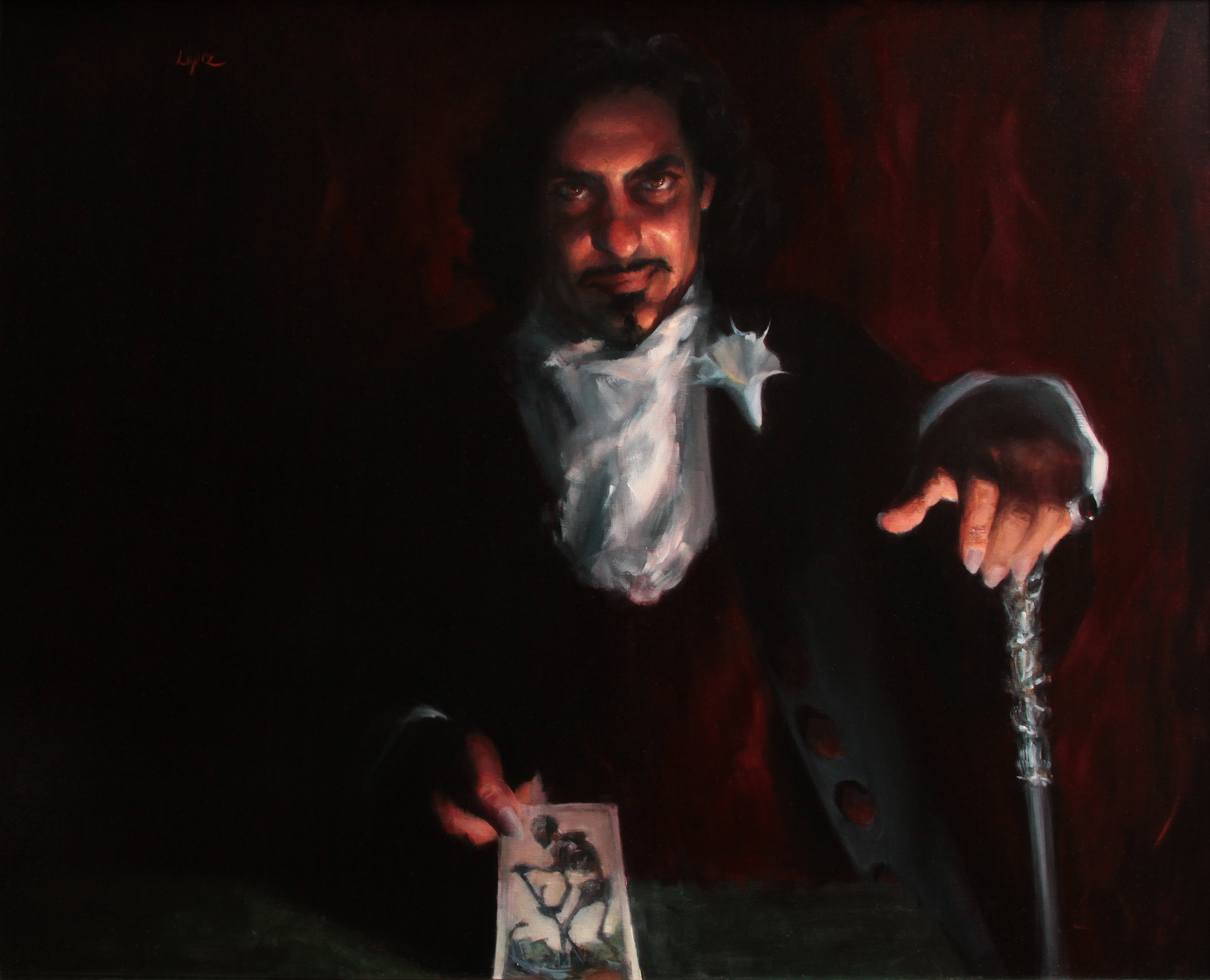 """Deal with the Devil"" oil on linen, 36x40"""