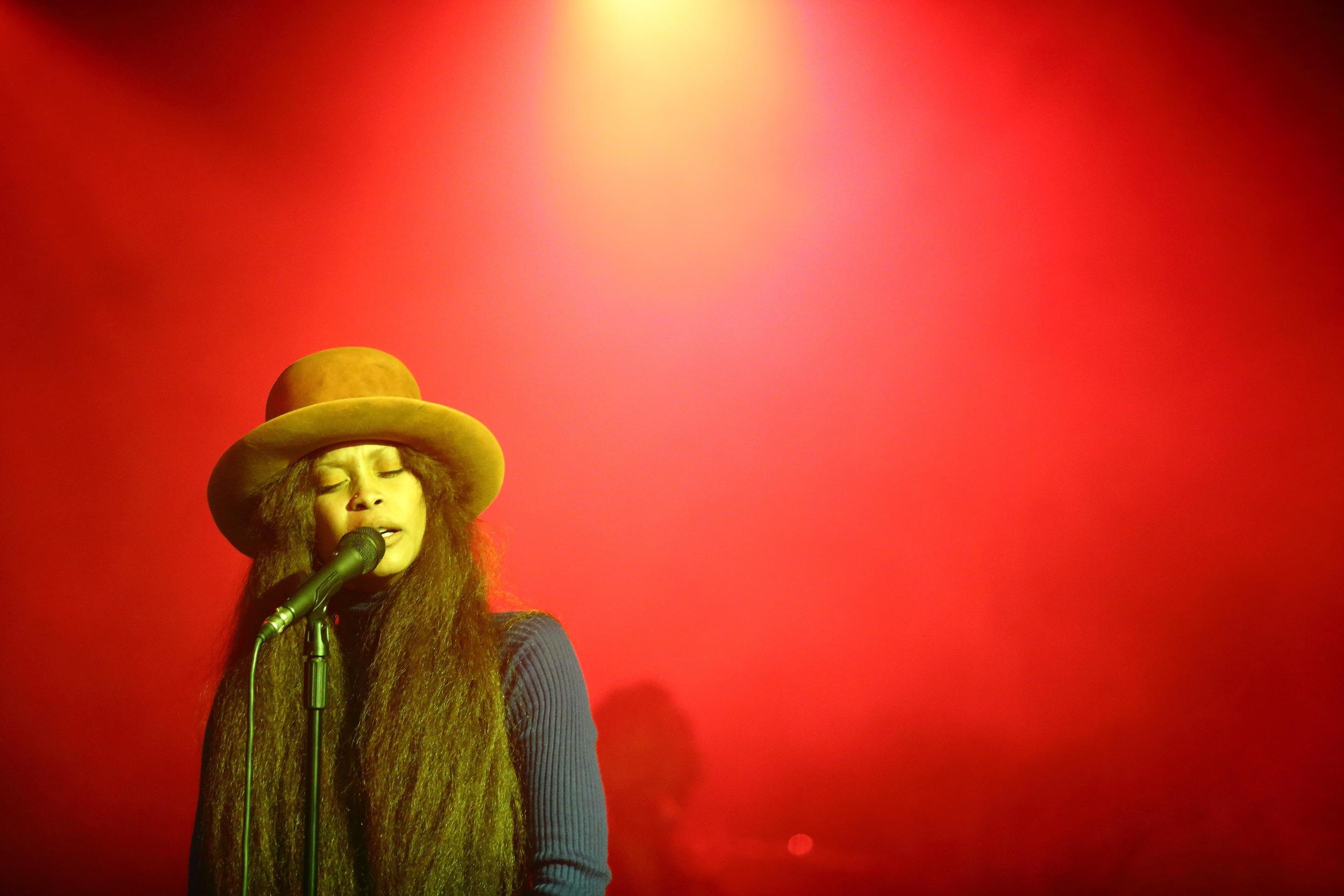Erykah Badu performing in Nairobi