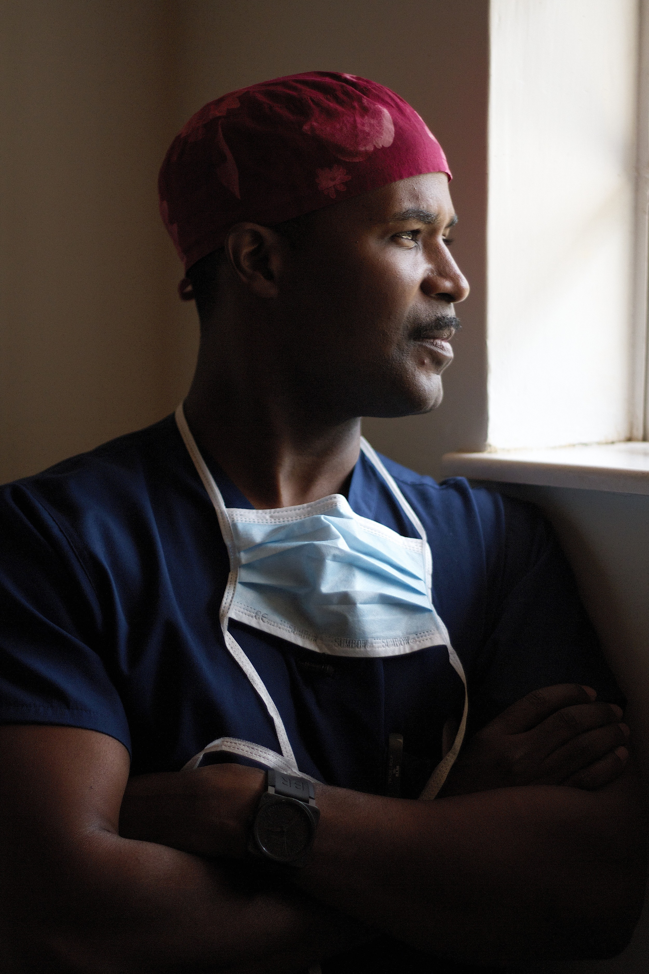 Dr Charles Boyd after performing surgery in Kenya