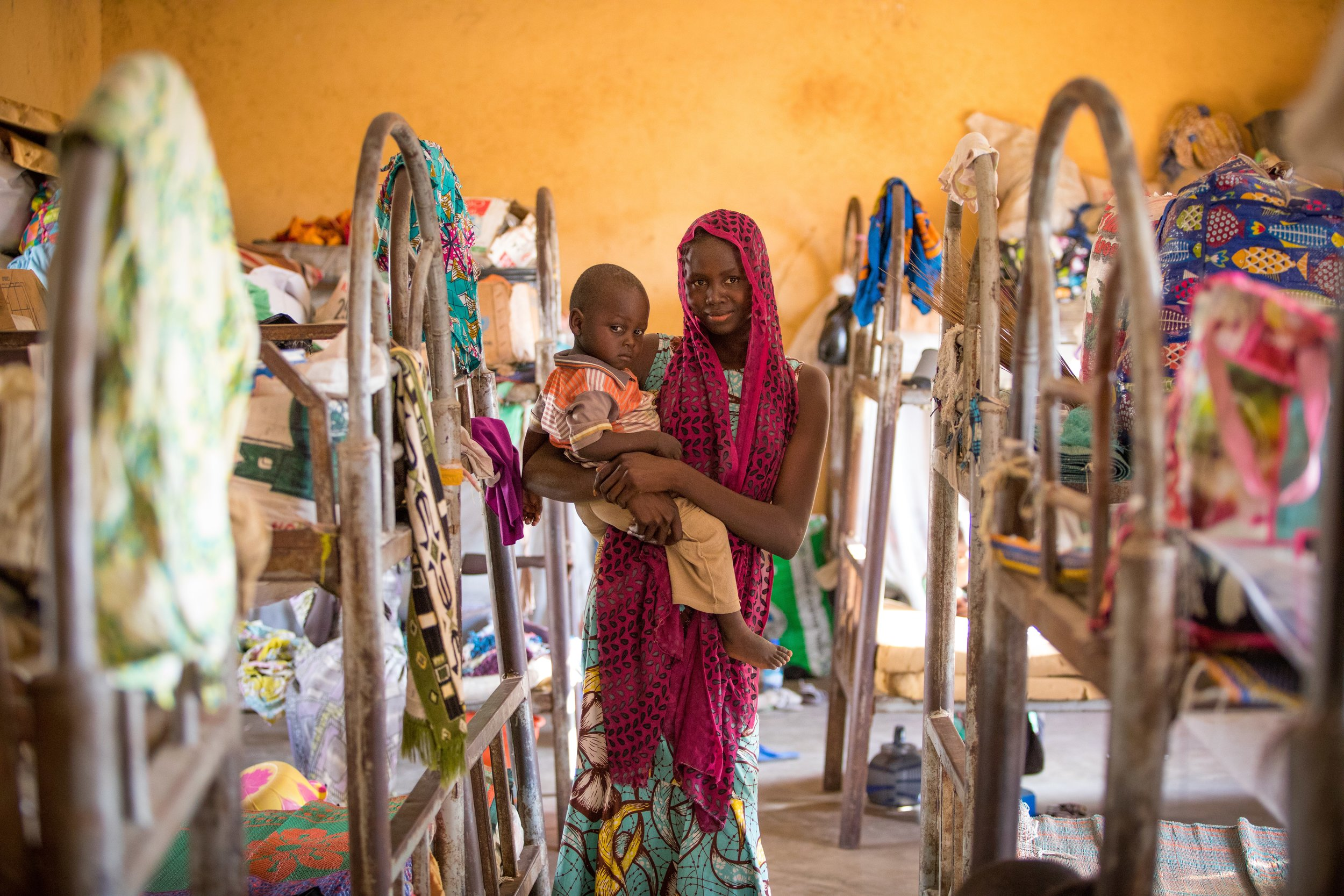 Naomi and her son live in a camp for displaced people in Yola, Nigeria