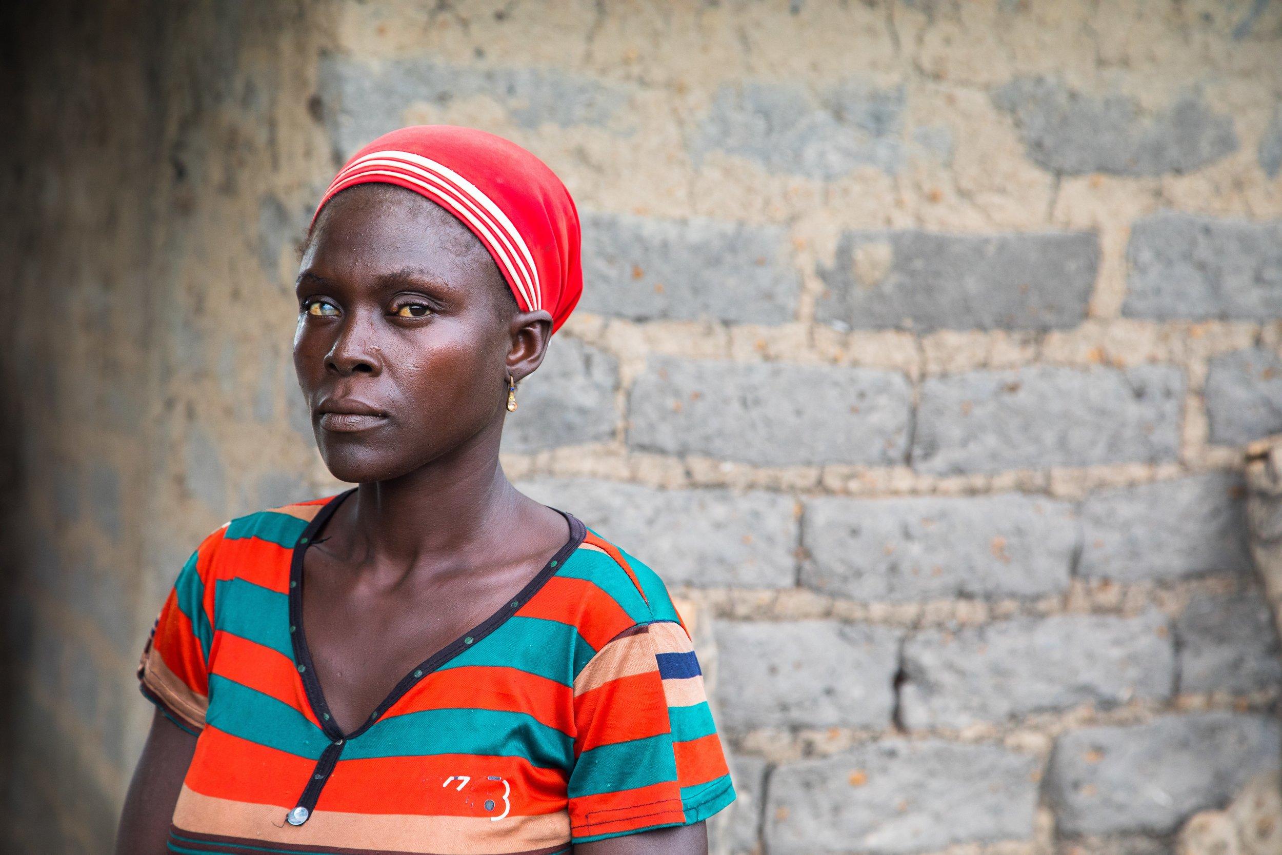 A widow in Benue State, Nigeria
