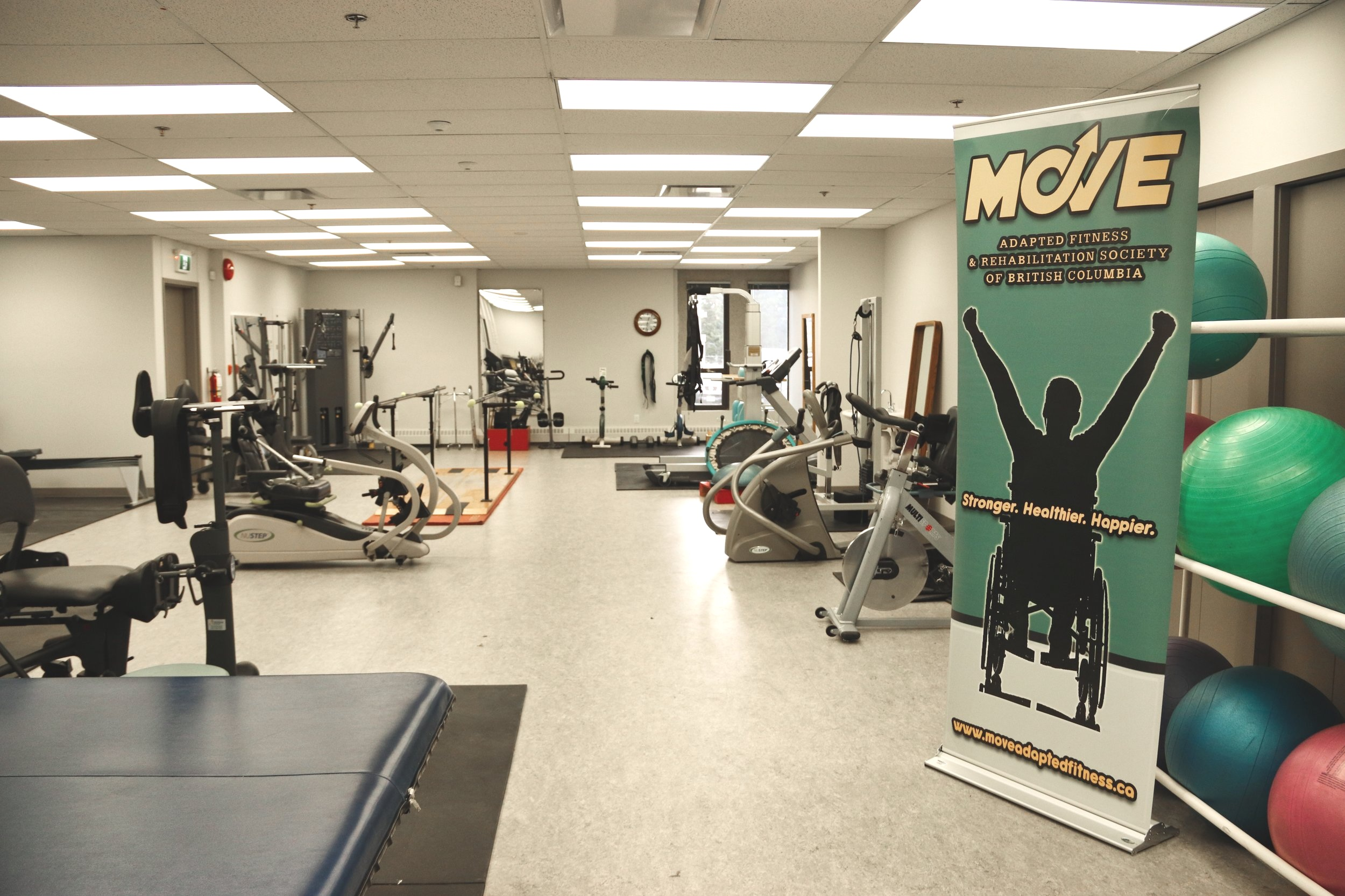 MOVE's new space within the Neuromotion Centre for Rehabilitation