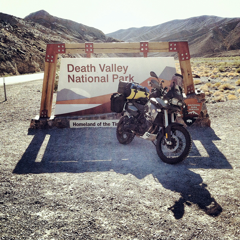 death valley sign