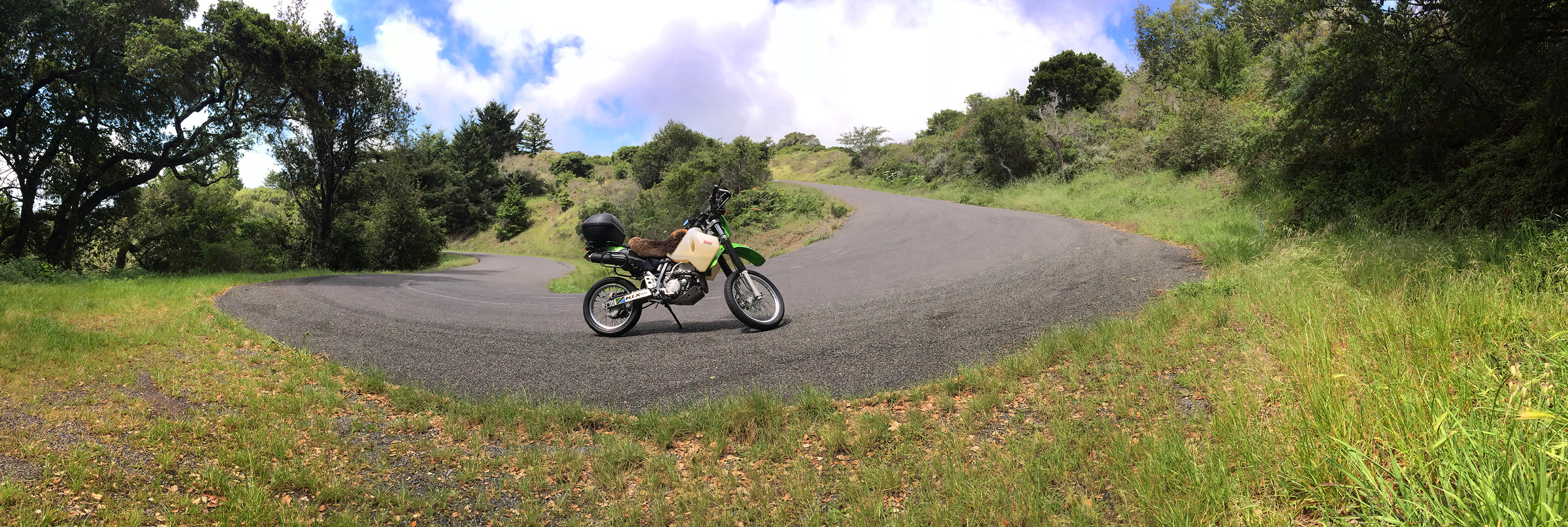 A hairpin turn on the Bolinas side. Click to zoom...