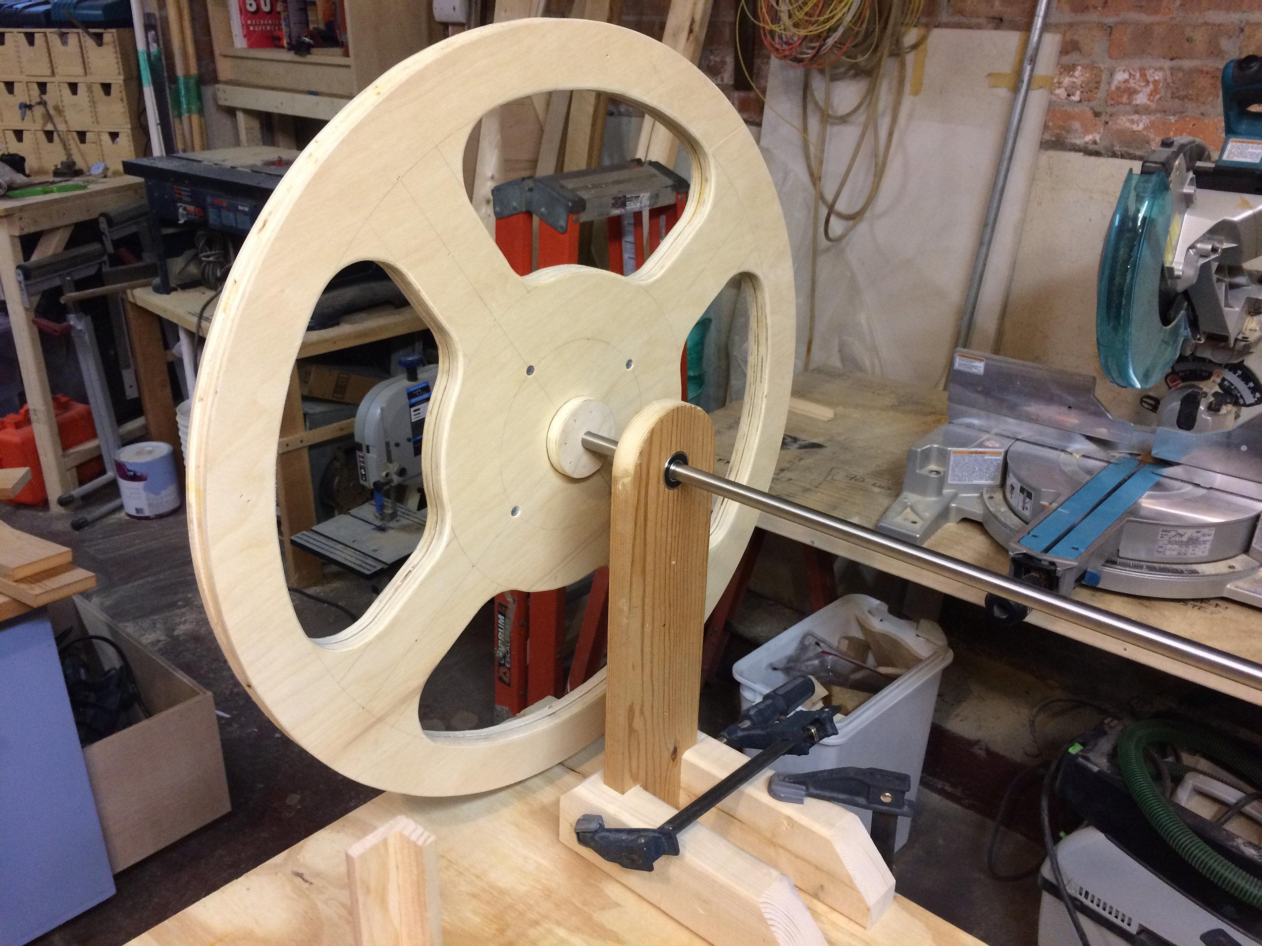 pulley prototype mounted
