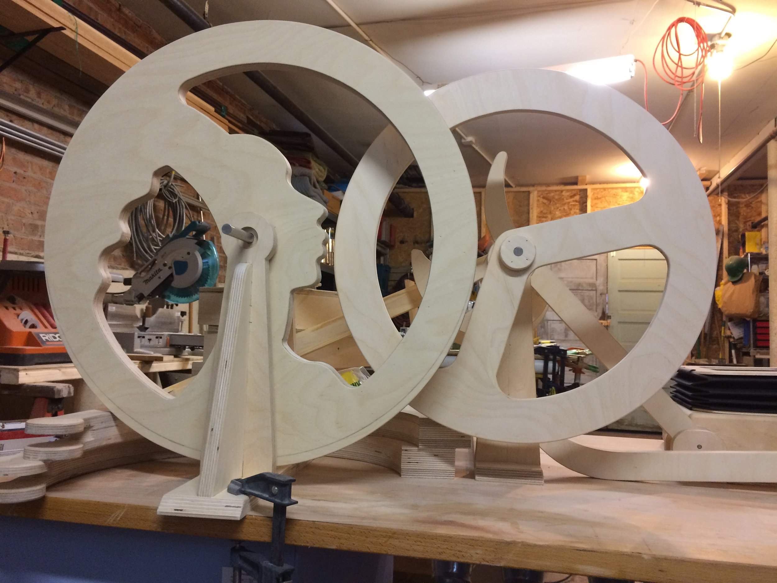new main pulley from baltic birch plywood