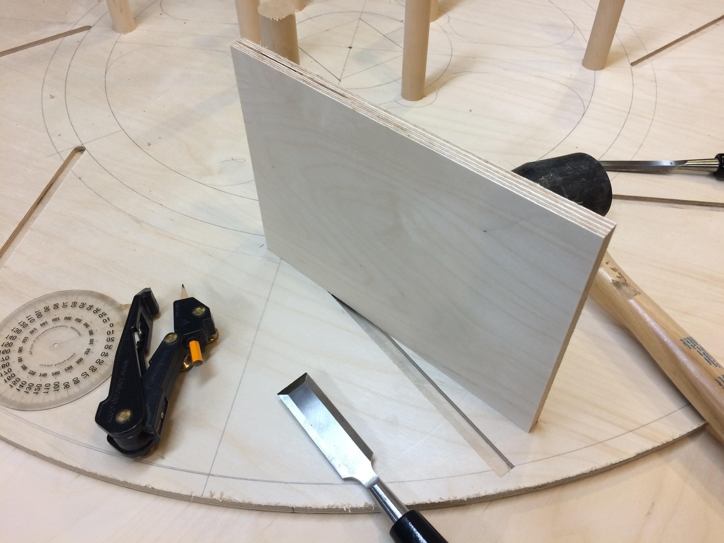 fin on wheel and corresponding dado