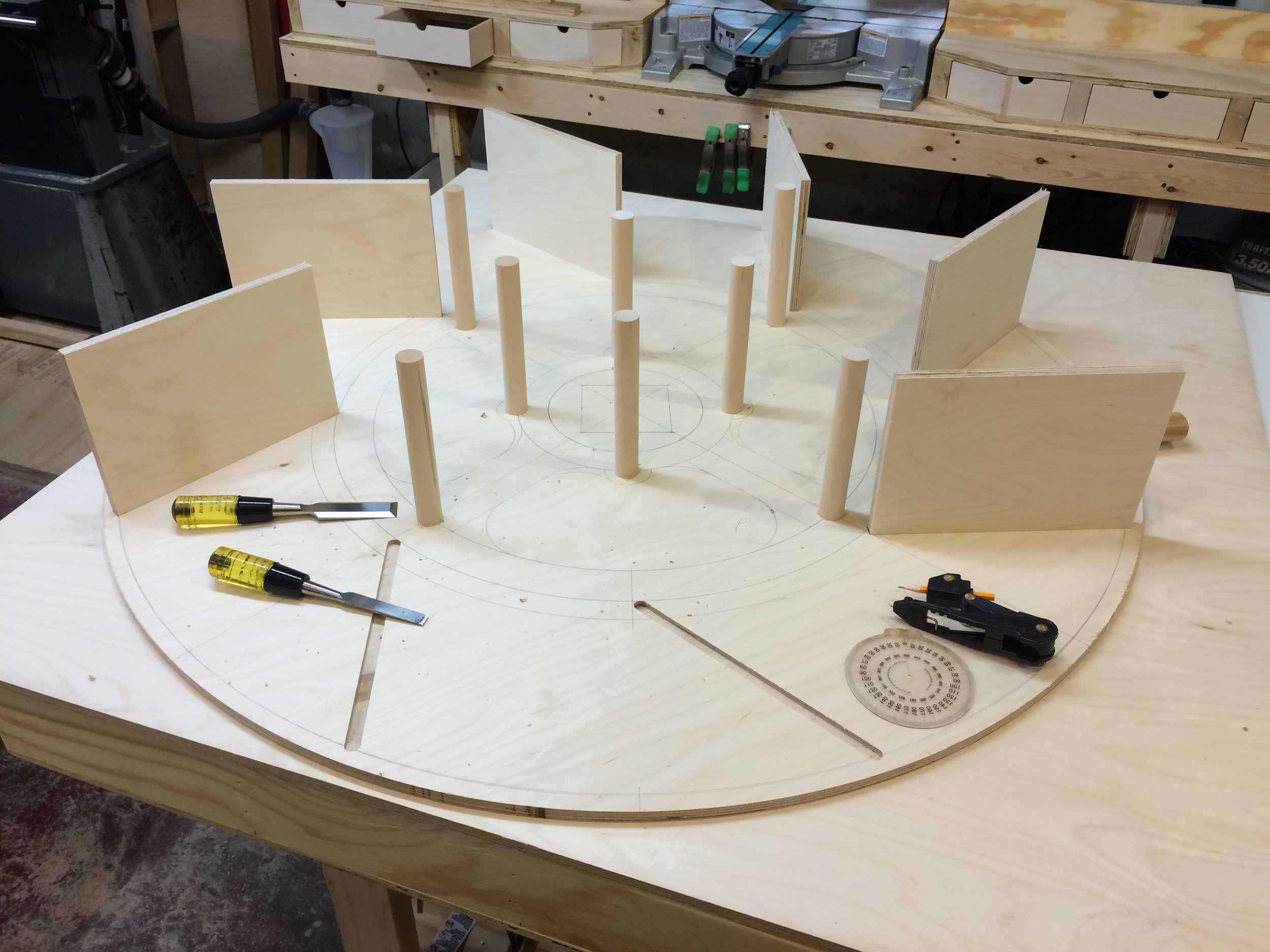 using hand tools to square off round dado ends