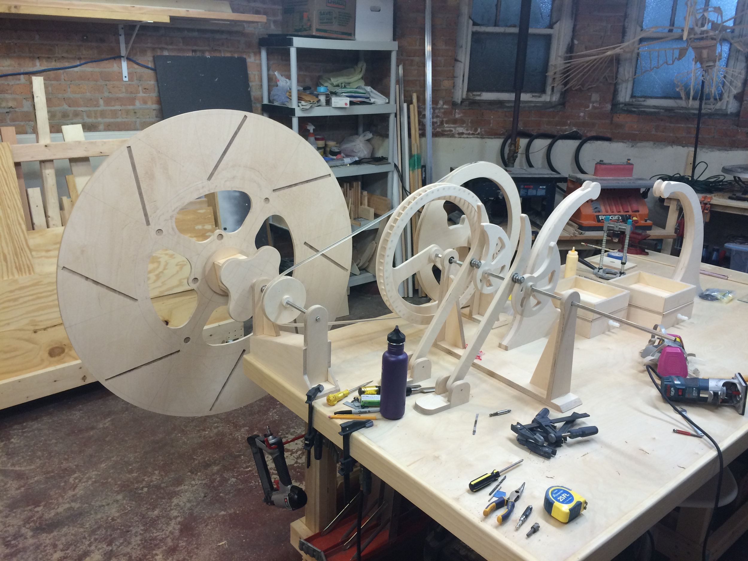 once side of the wheel in place just to see