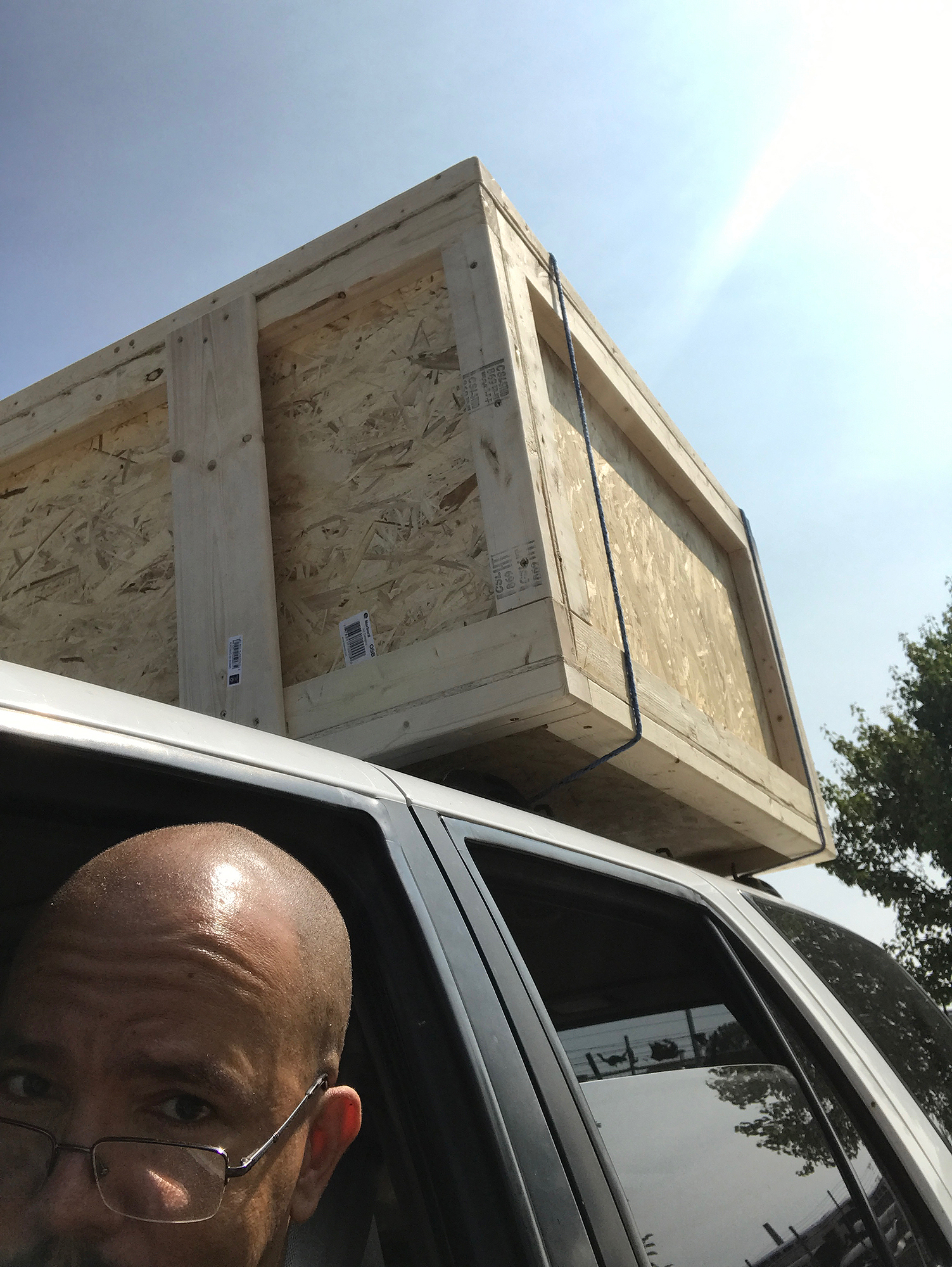 building a crate is one thing, moving it is another challenge