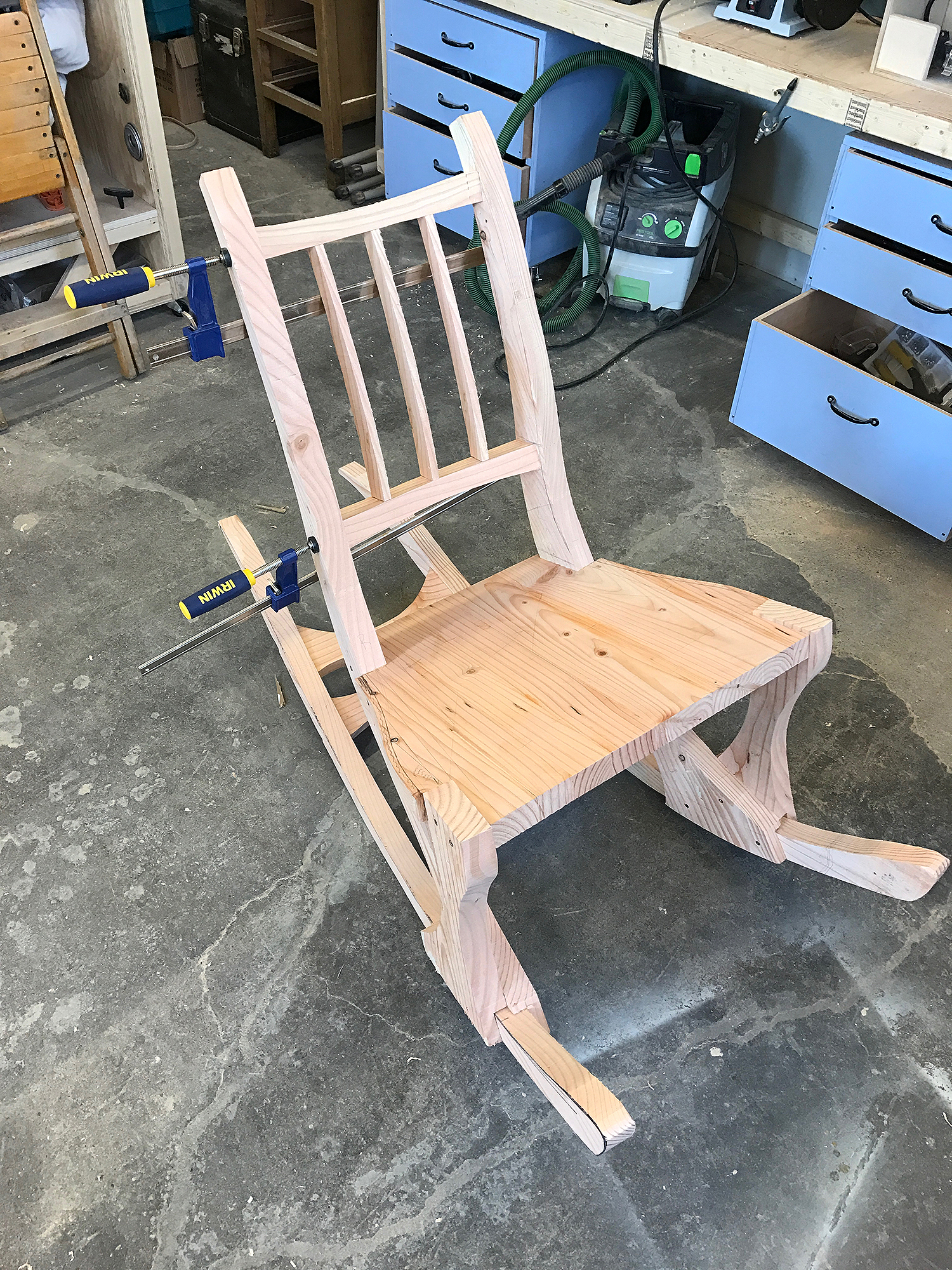 an early idea for the back rest