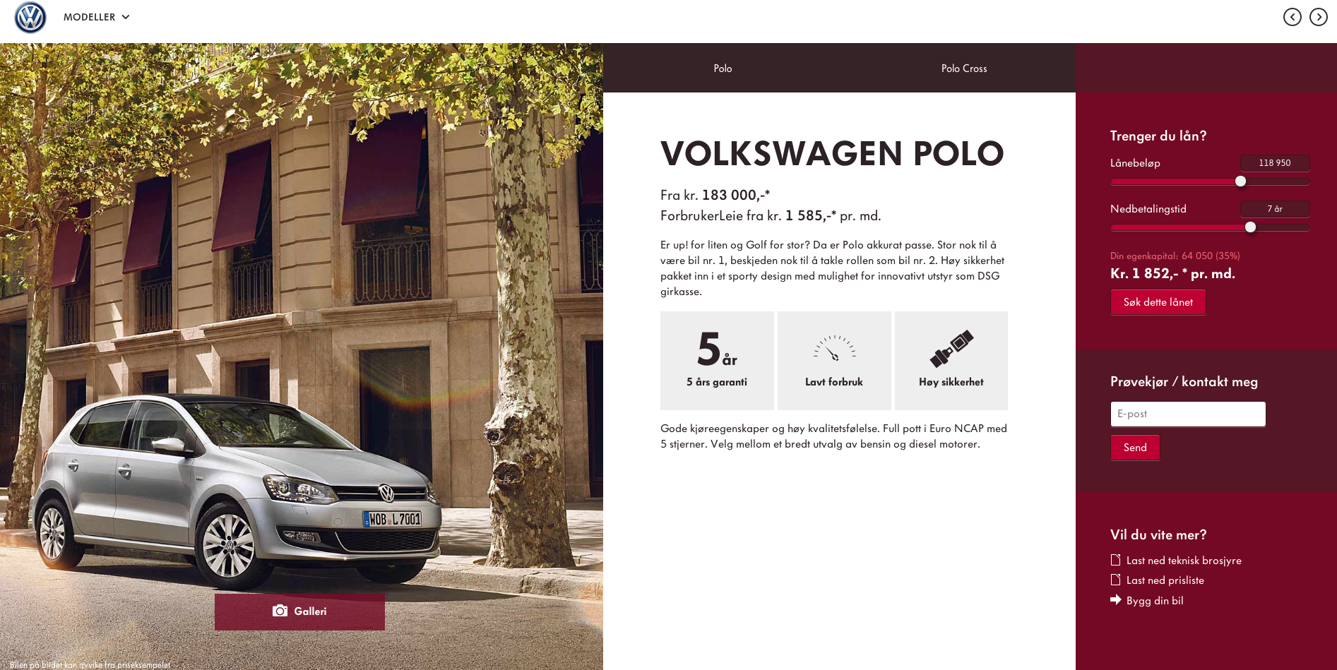 http://taktisk.volkswagen.no/  Clear and easy to read graphics. each color represent different model. Simple info-graphics that are easy to grasp.