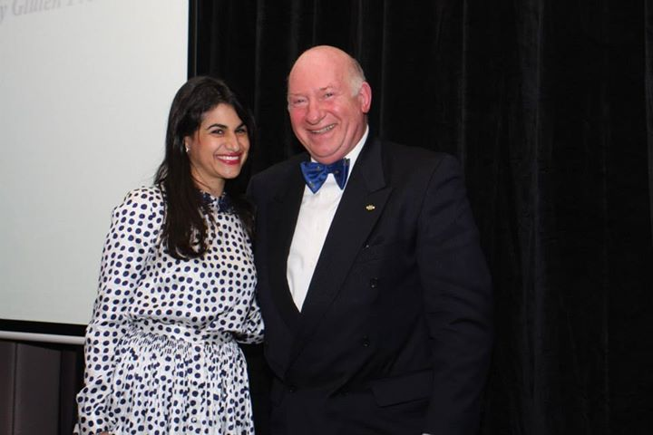 Me and the President and Headmaster of Le Cordon Bleu Sydney
