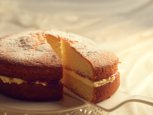 Gluten Free Genoise Cake with Strawberry Jam and Chantilly Cream