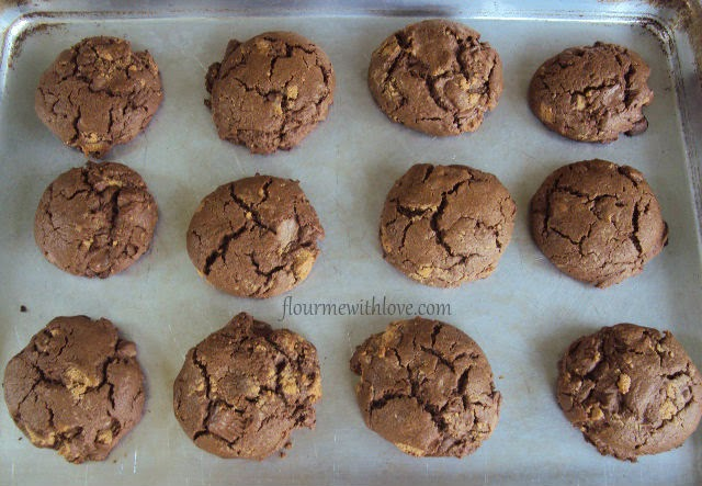 Gluten Free Chocolate Peanut Butter Cup Cookies