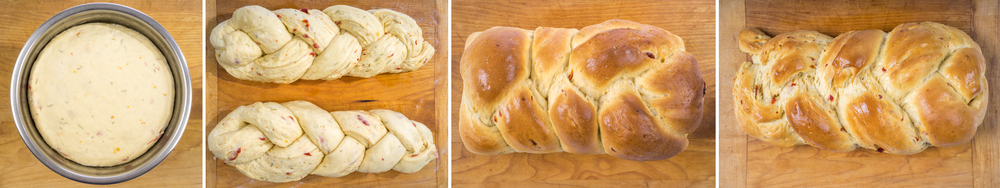 Traditional Challah Mix with added chunks of sun dried tomatos