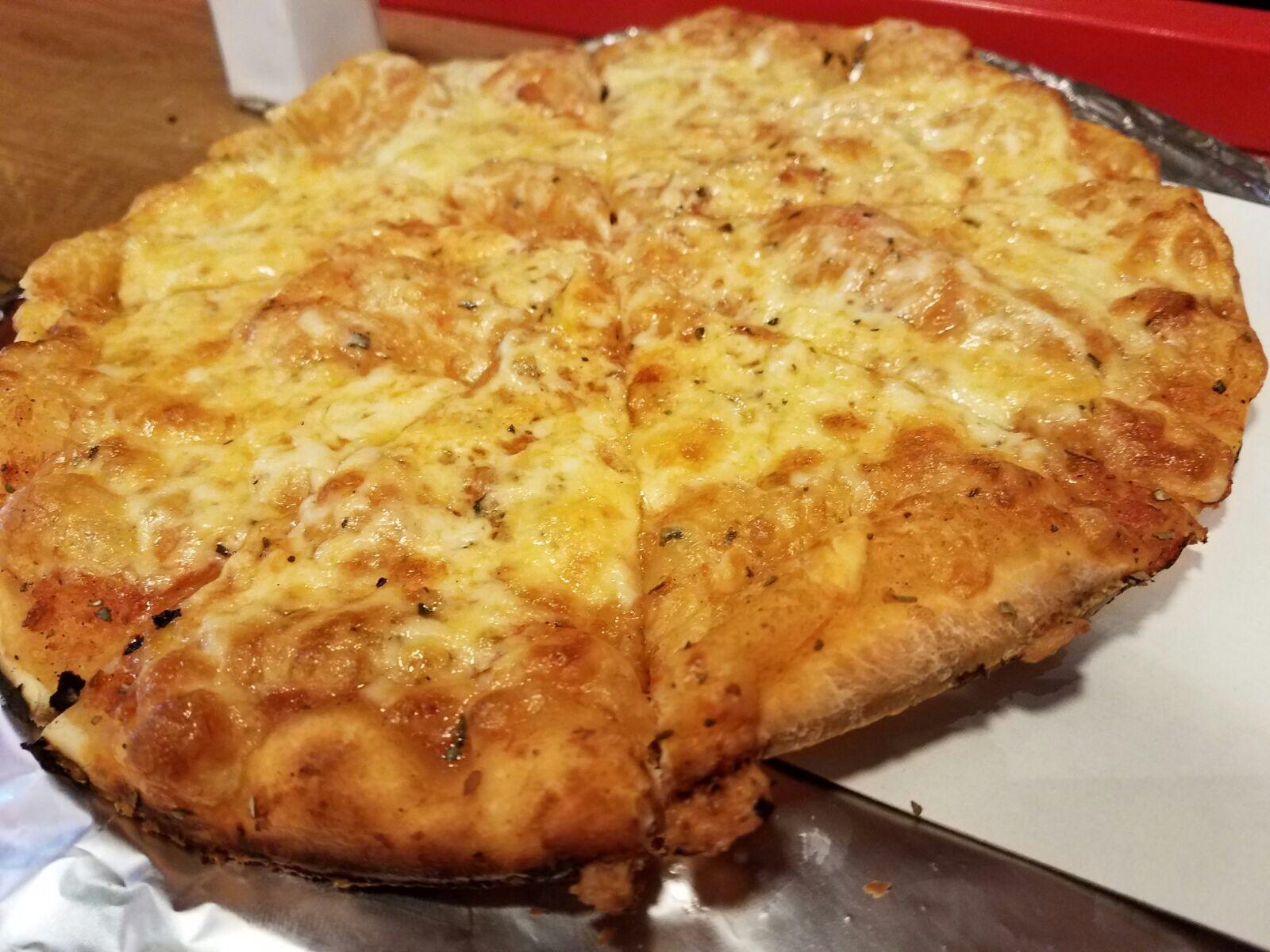 Gluten Free cheese pizza from Luigi's Pizza
