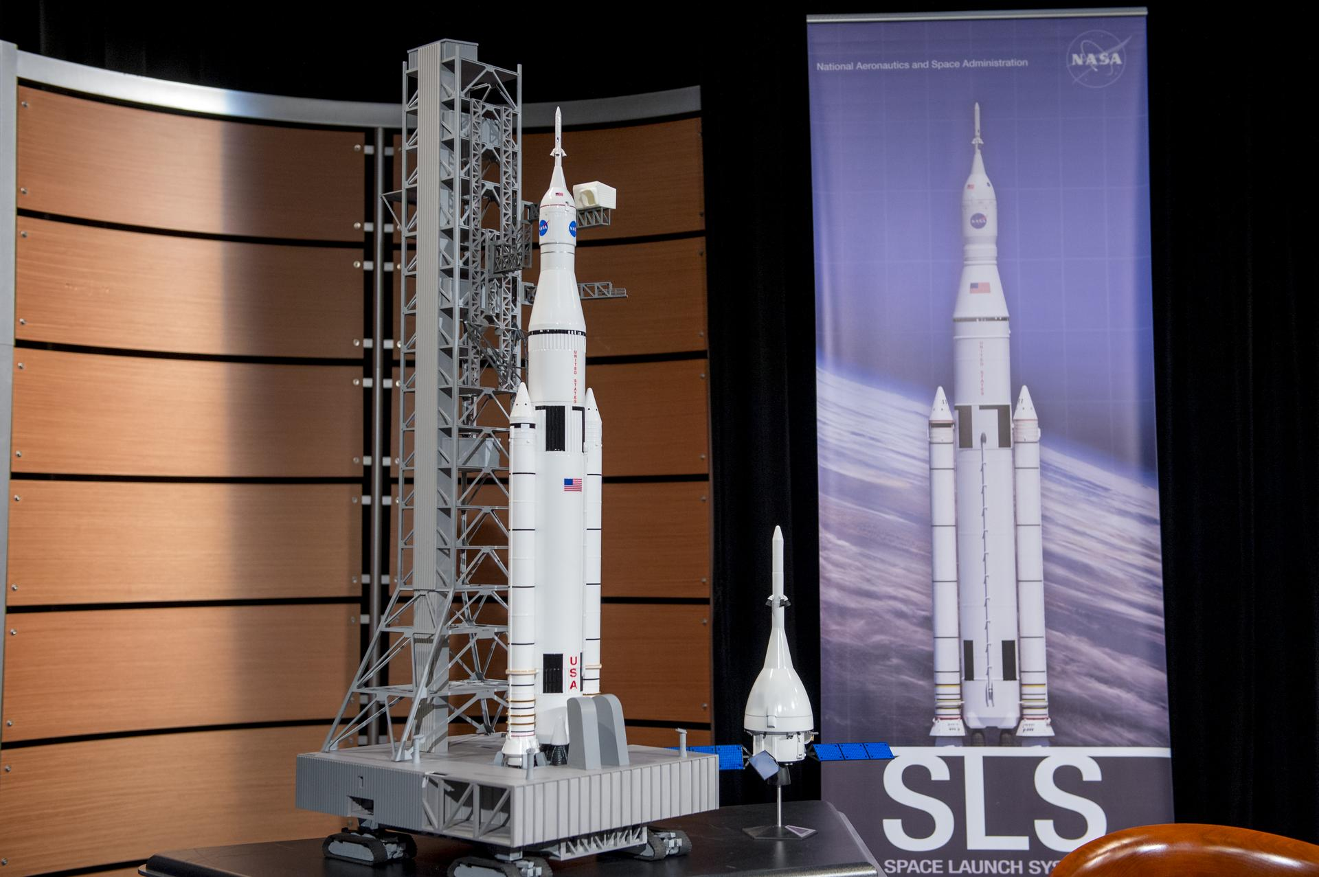 A Model of the Space Launch System (Courtesy of  NASA )