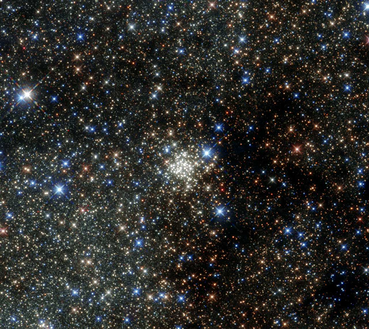 The Arches Cluster in the Milky Way (Courtesy of  NASA via Hubble )