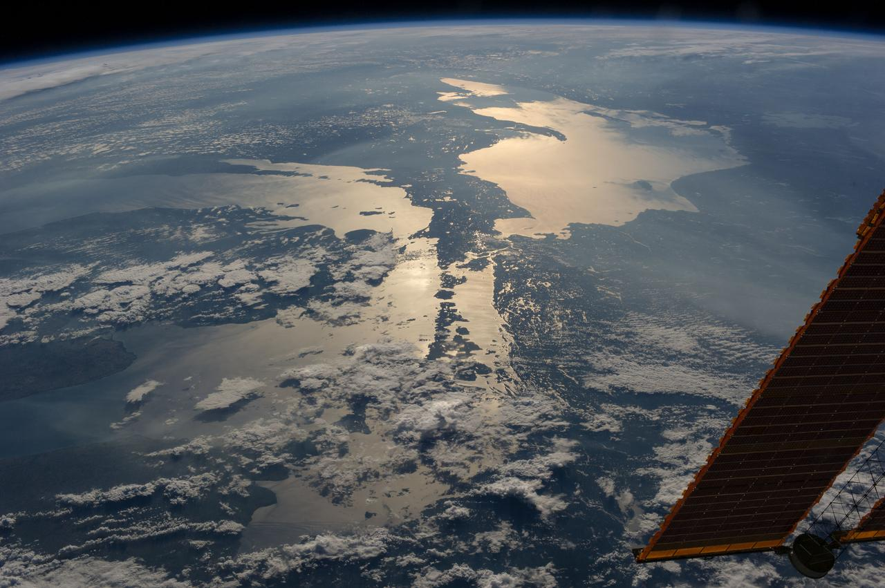 Earth observation from the International Space Station (Courtesy of  NASA )