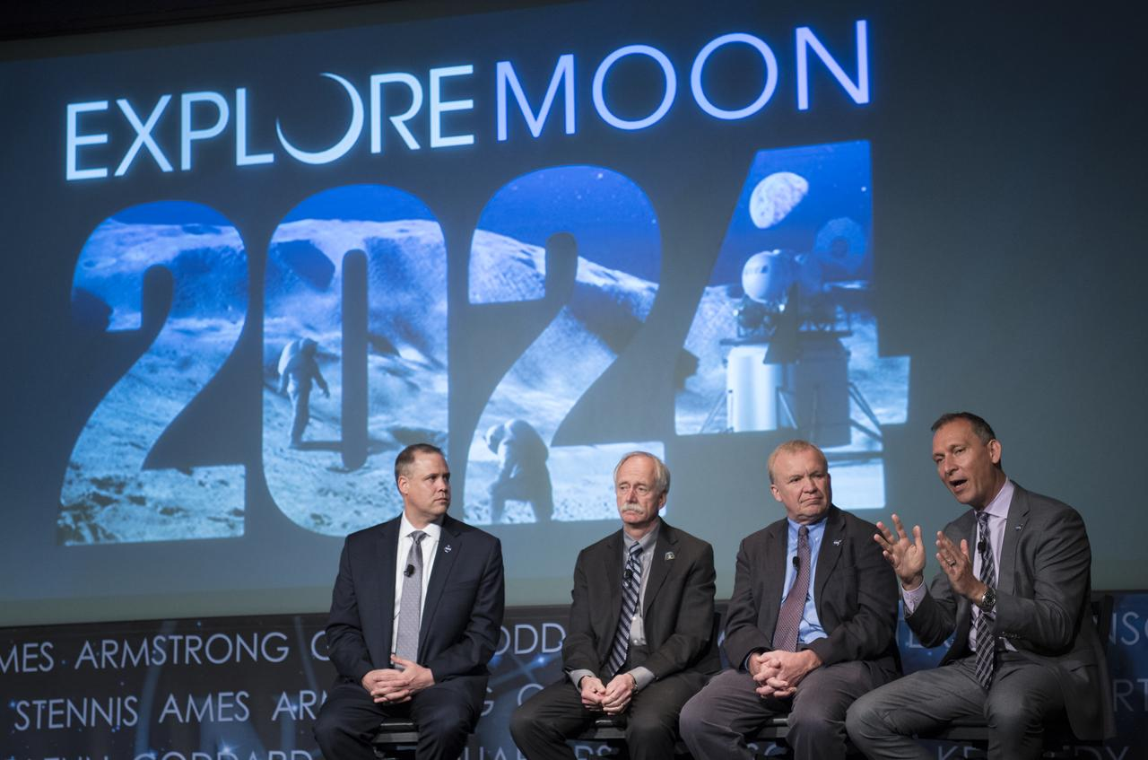 The Last NASA Town Hall for Mr. William Gerstenmaier, second from left (Courtesy of  NASA )