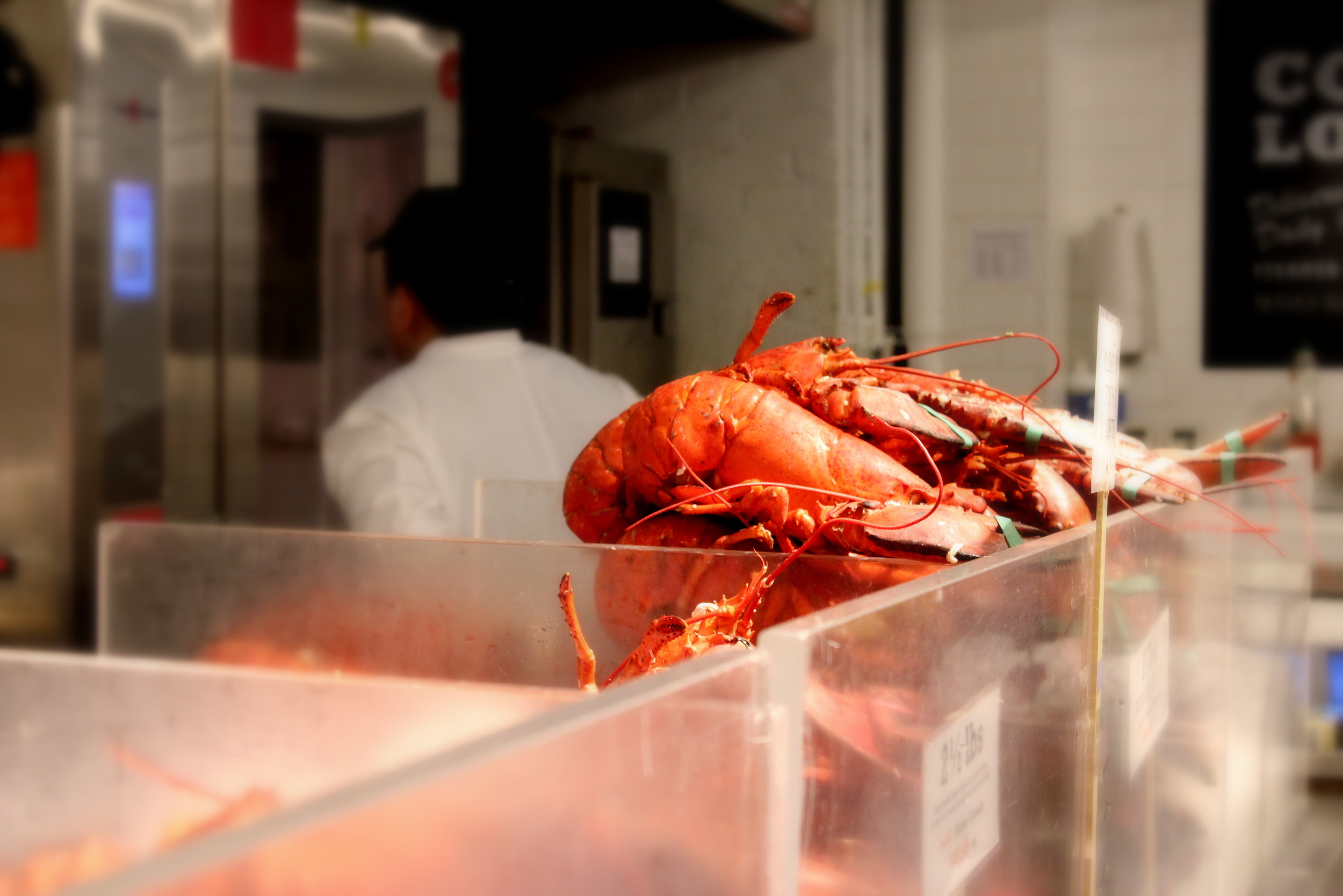 Lobsters at (where else?) The Lobster Place, Chelsea Market